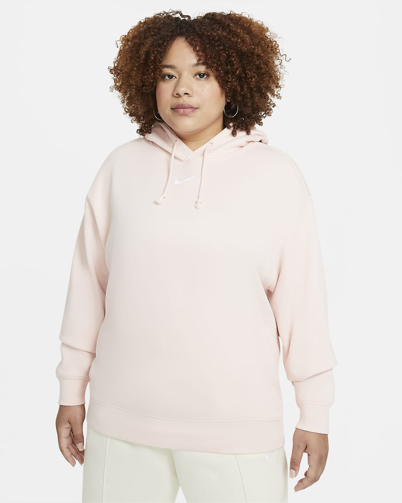 Fleecehuvtröja i oversize-modell Nike Sportswear Collection Essentials för kvinnor (Plus Size)
