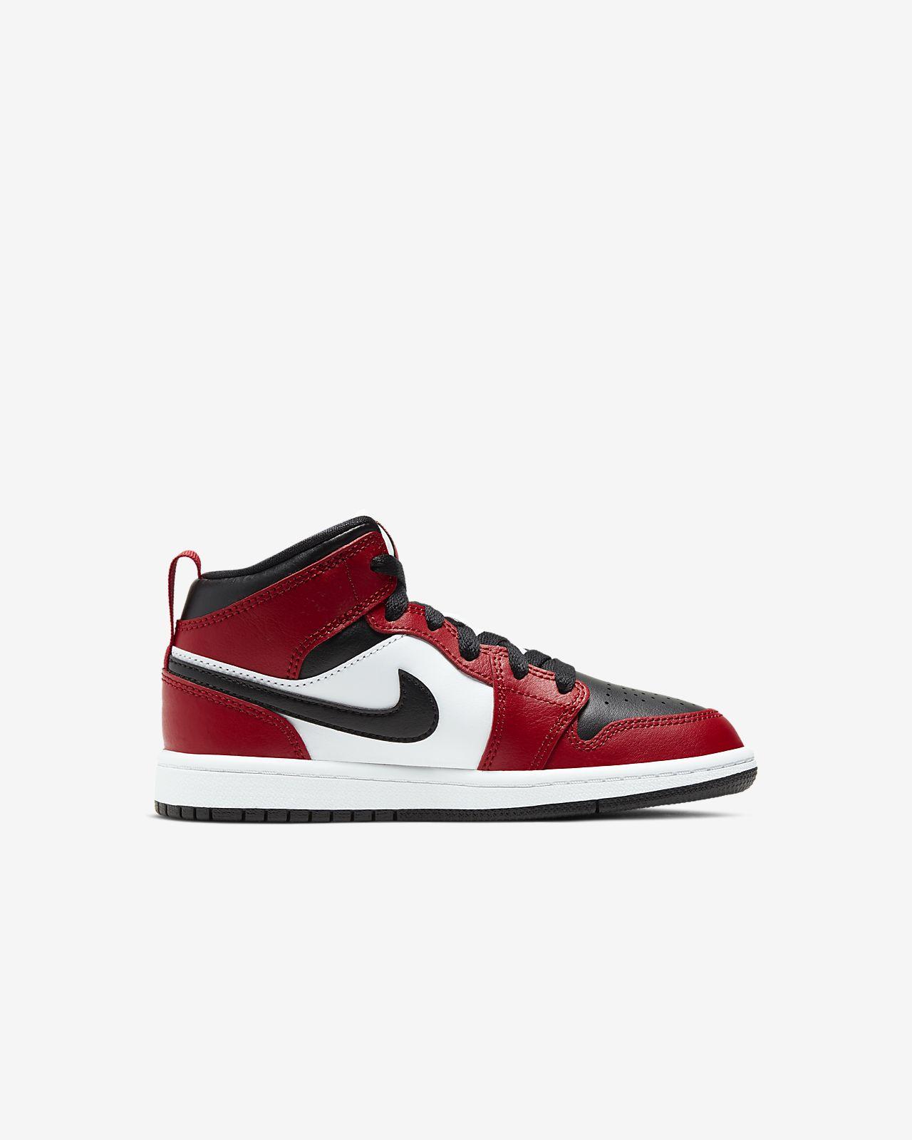 Air Jordan 1 Mid Big Kids' Shoe.