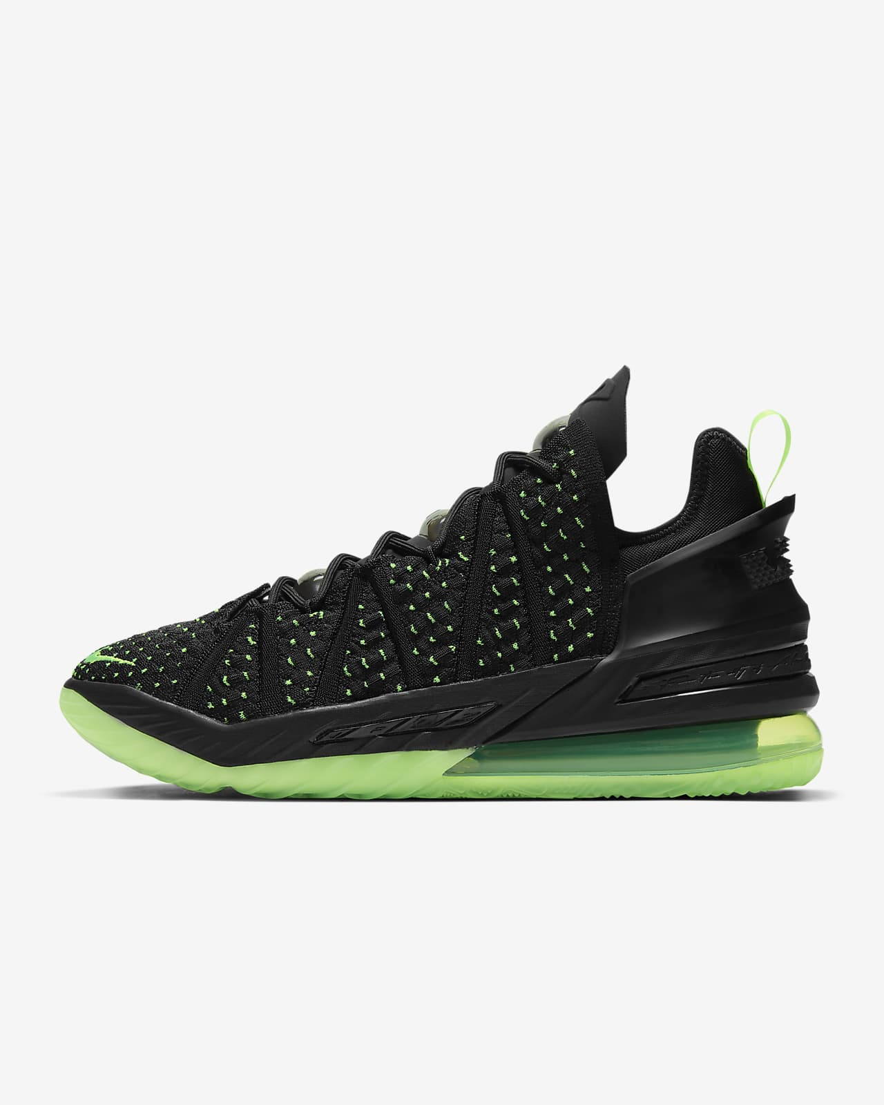 Chaussure de basketball LeBron 18 « Black/Electric Green »