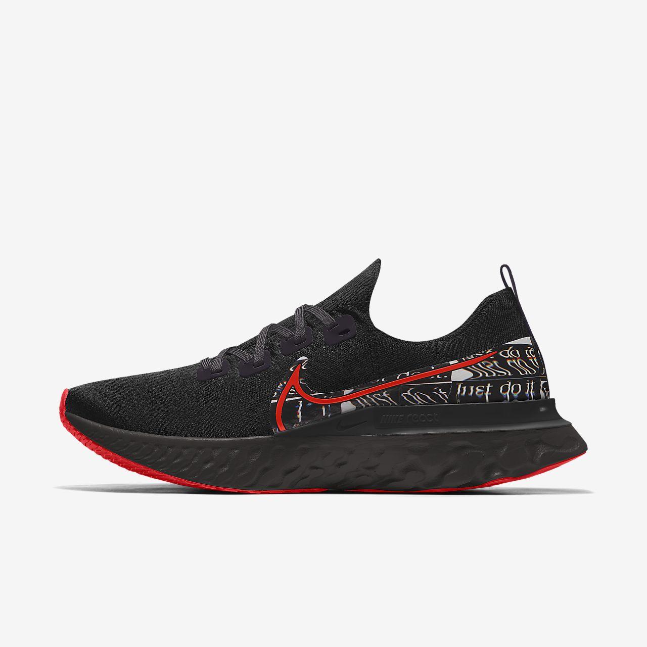 Nike React Infinity Run Flyknit By You tilpasset løpesko til herre