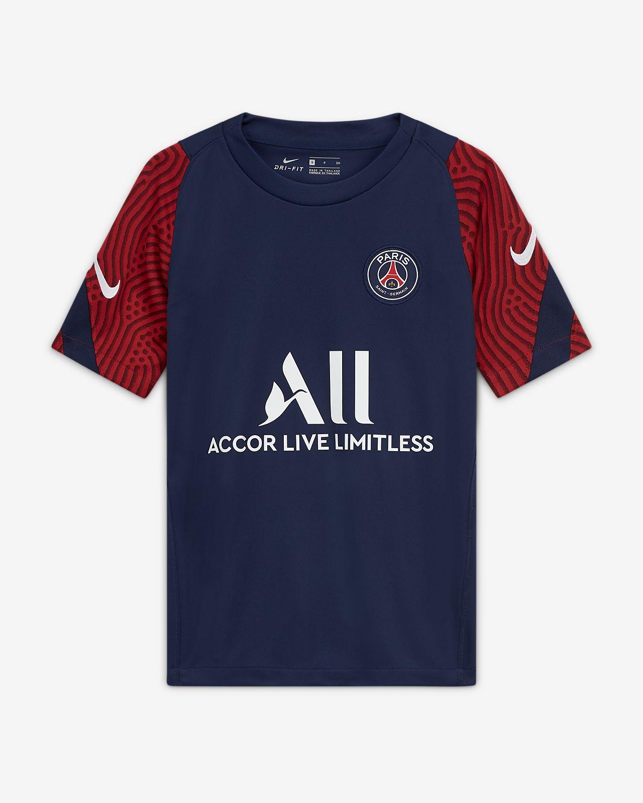 Camisola de futebol de manga curta Paris Saint-Germain Strike Júnior