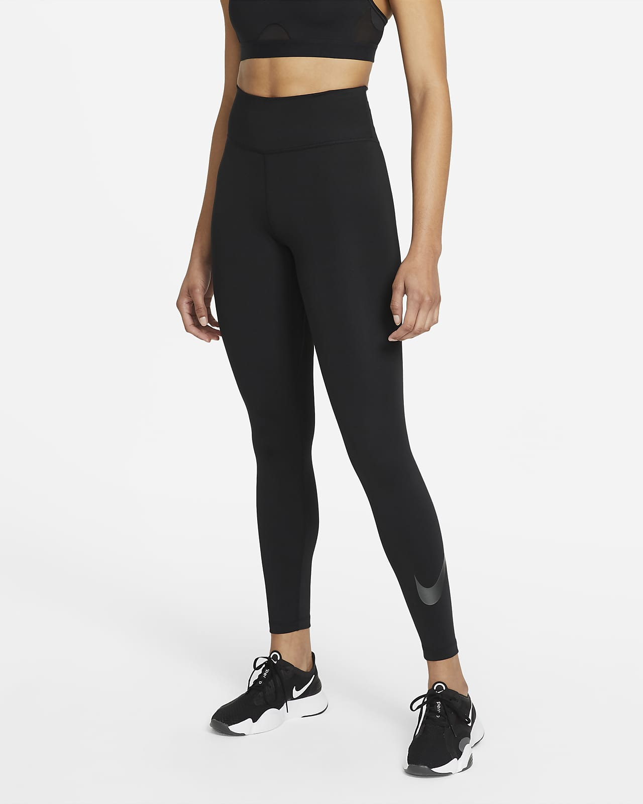 Leggings con gráfico de tiro medio de 7/8 para mujer Nike One Icon Clash