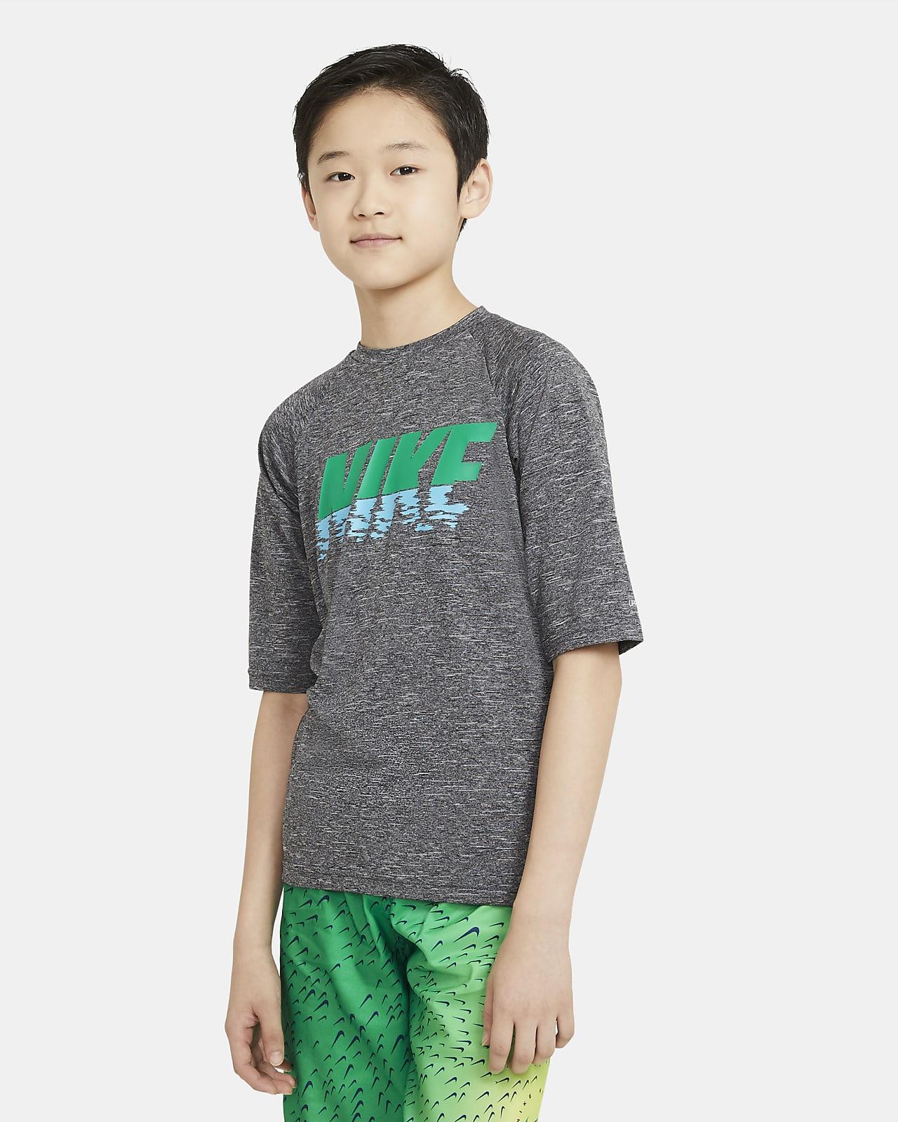 Nike Big Kids' Short-Sleeve Hydroguard Swim Shirt