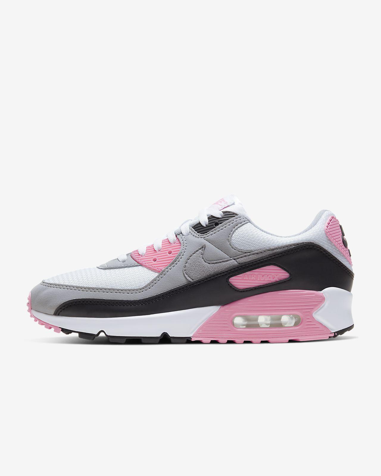 svart hvit rosa nike air max 90