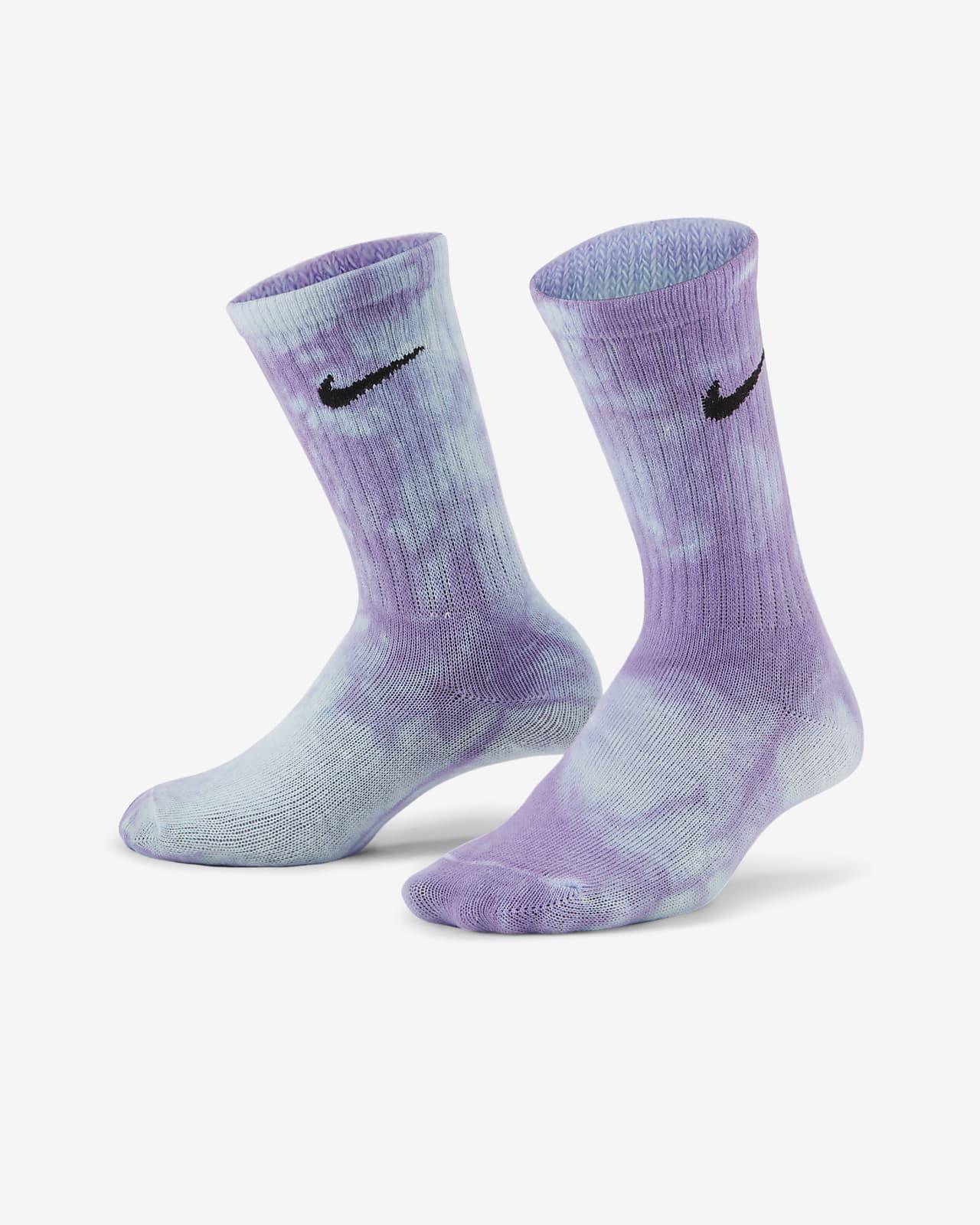 Calcetines largos tie-dye para niños talla pequeña Nike (3 pares)