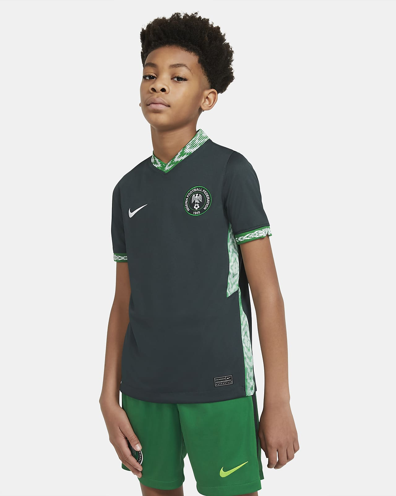 Camisola de futebol do equipamento alternativo Stadium Nigéria 2020 Júnior