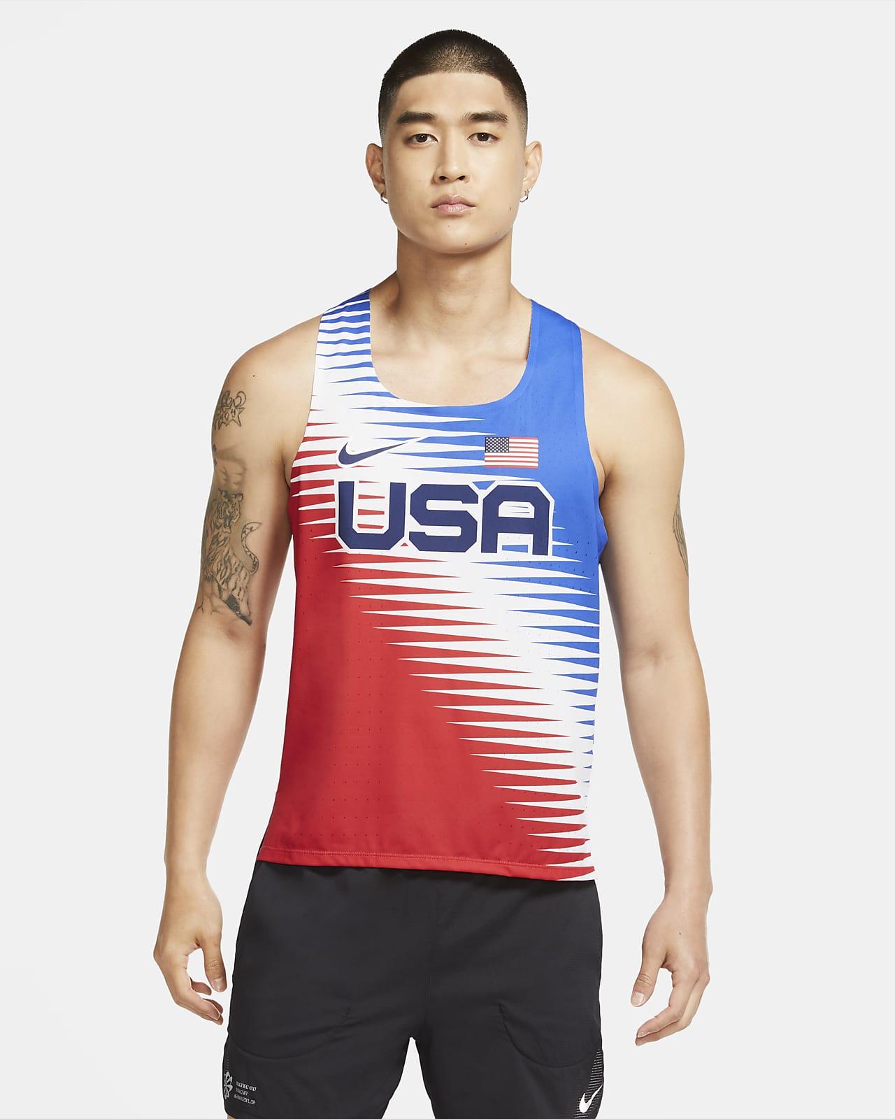 Camiseta sin mangas de running para hombre Nike Dri-FIT ADV Team USA AeroSwift