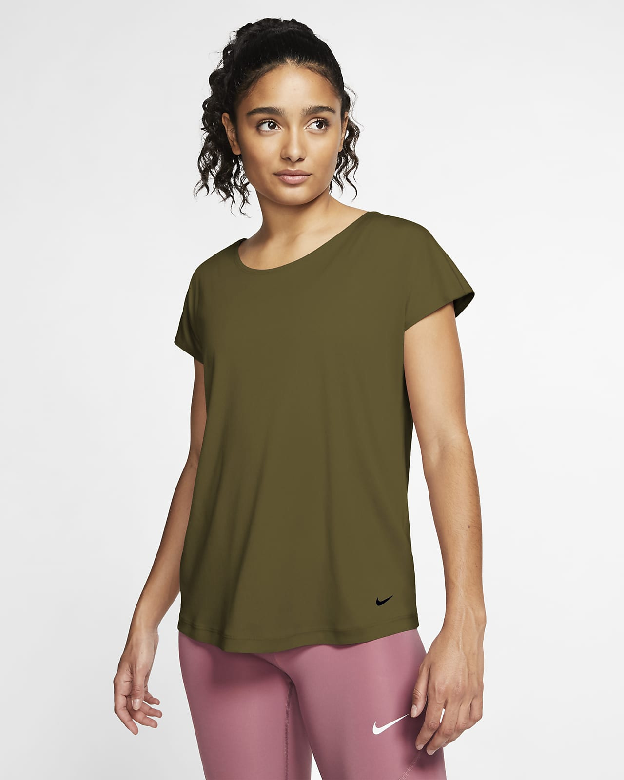 Nike Pro Dri-FIT Kurzarm-Oberteil für Damen