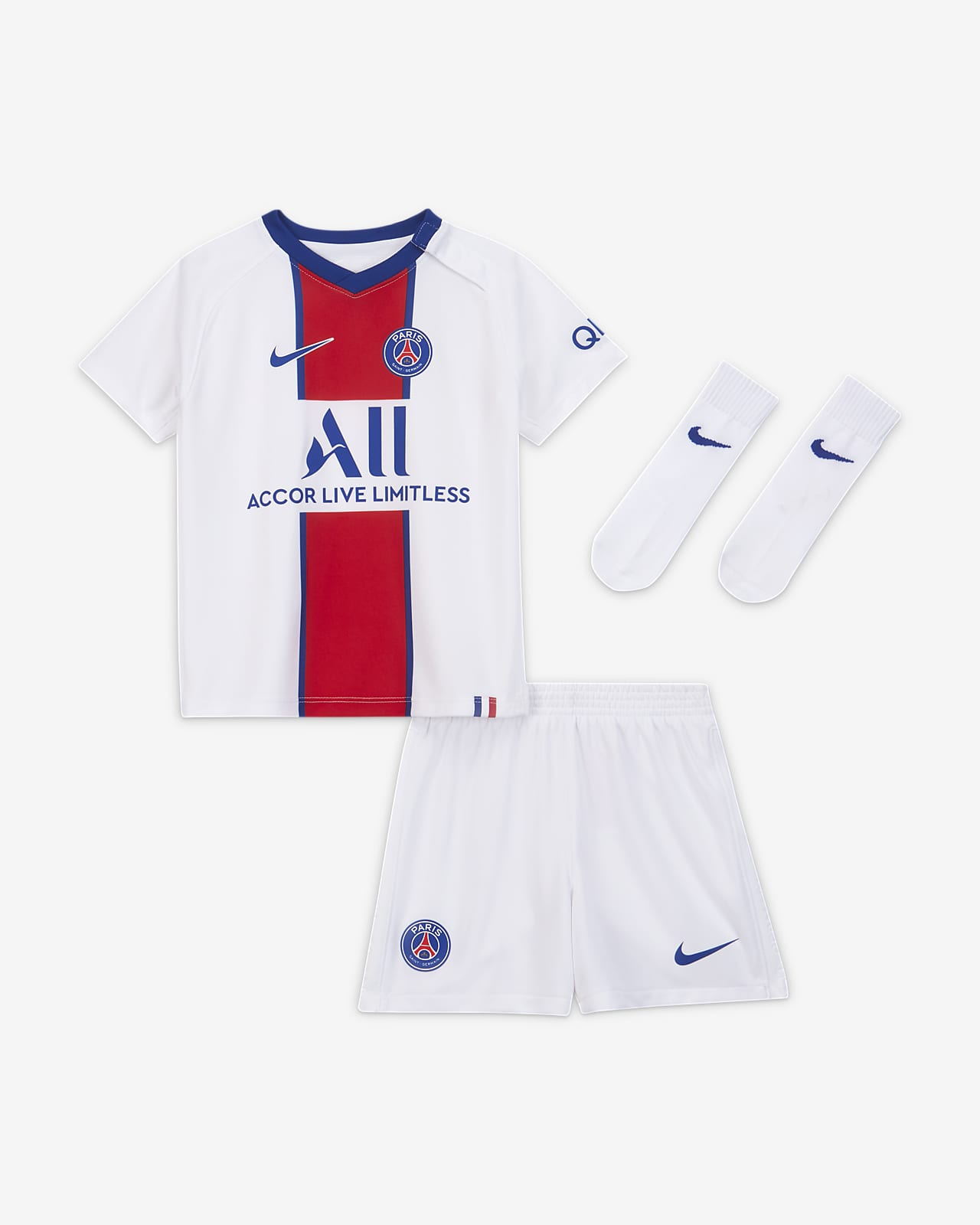 Divisa da calcio Paris Saint-Germain 2020/21 per neonati/bimbi piccoli - Away