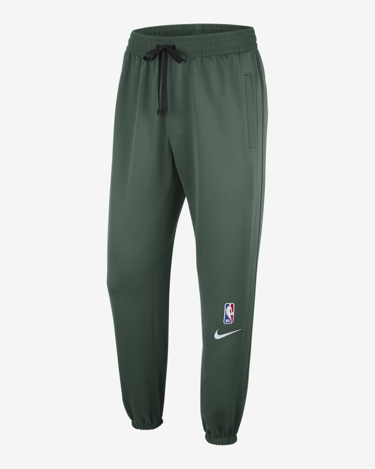 NBA-byxor Milwaukee Bucks Showtime Nike Therma Flex för män