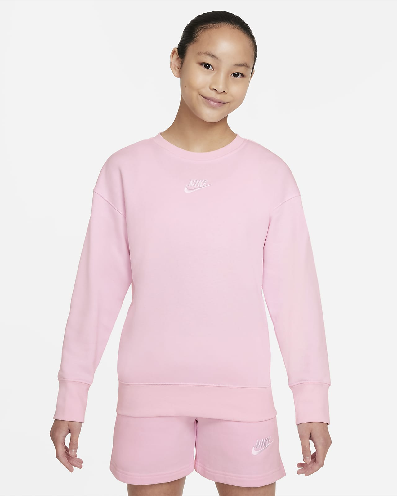 Felpa a girocollo Nike Sportswear Club Fleece - Ragazza
