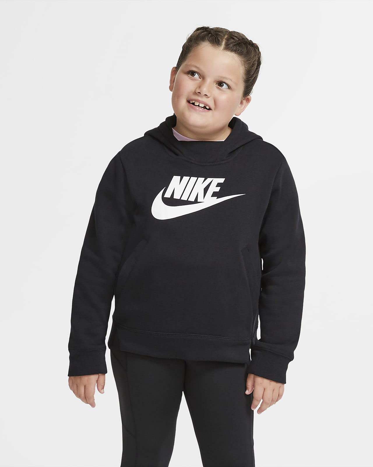 Nike Sportswear belebújós kapucnis pulóver nagyobb gyerekeknek (lányoknak) (hosszabb méret)