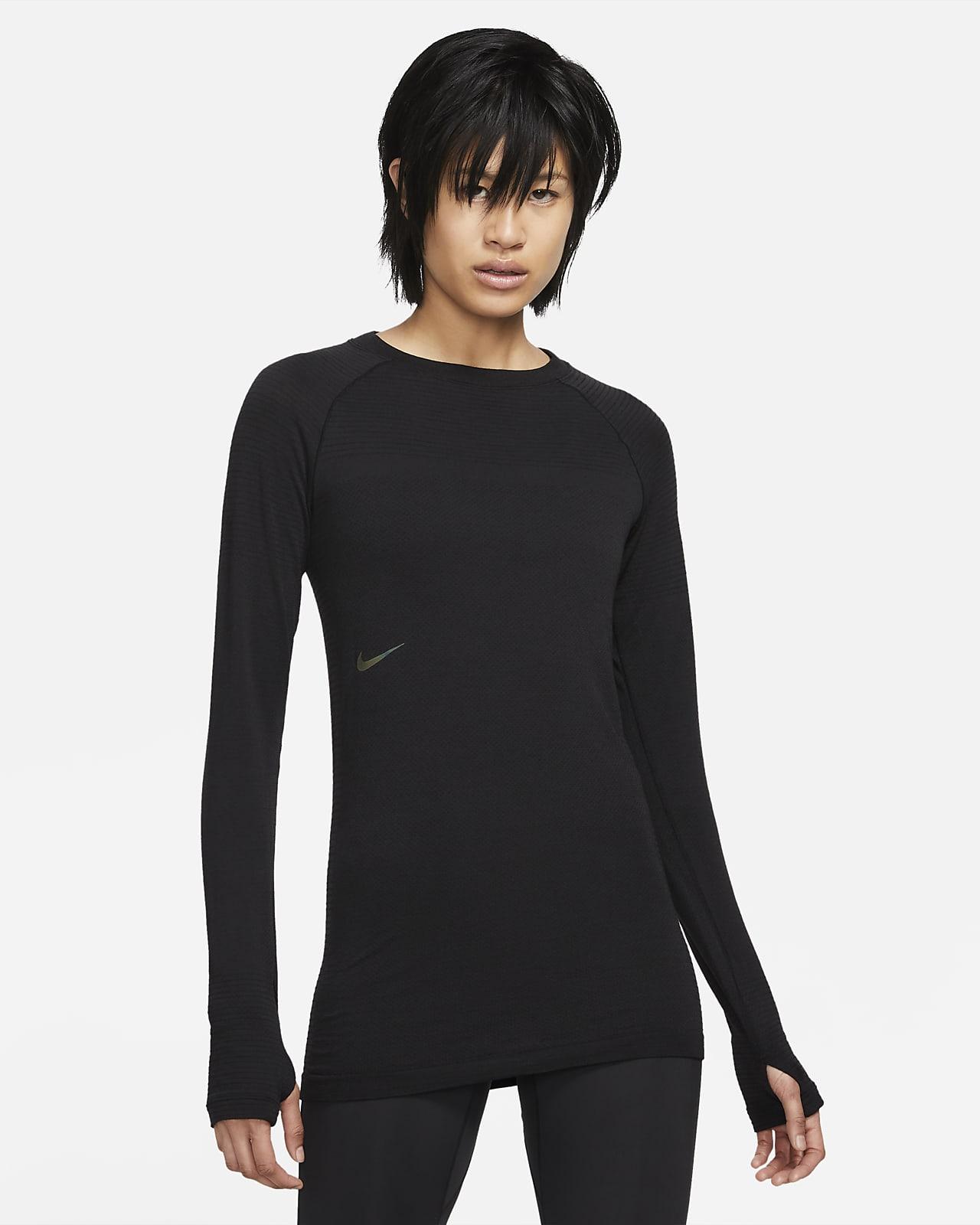 Nike NSRL Langarm-Rundhalsshirt aus Wolle für Damen