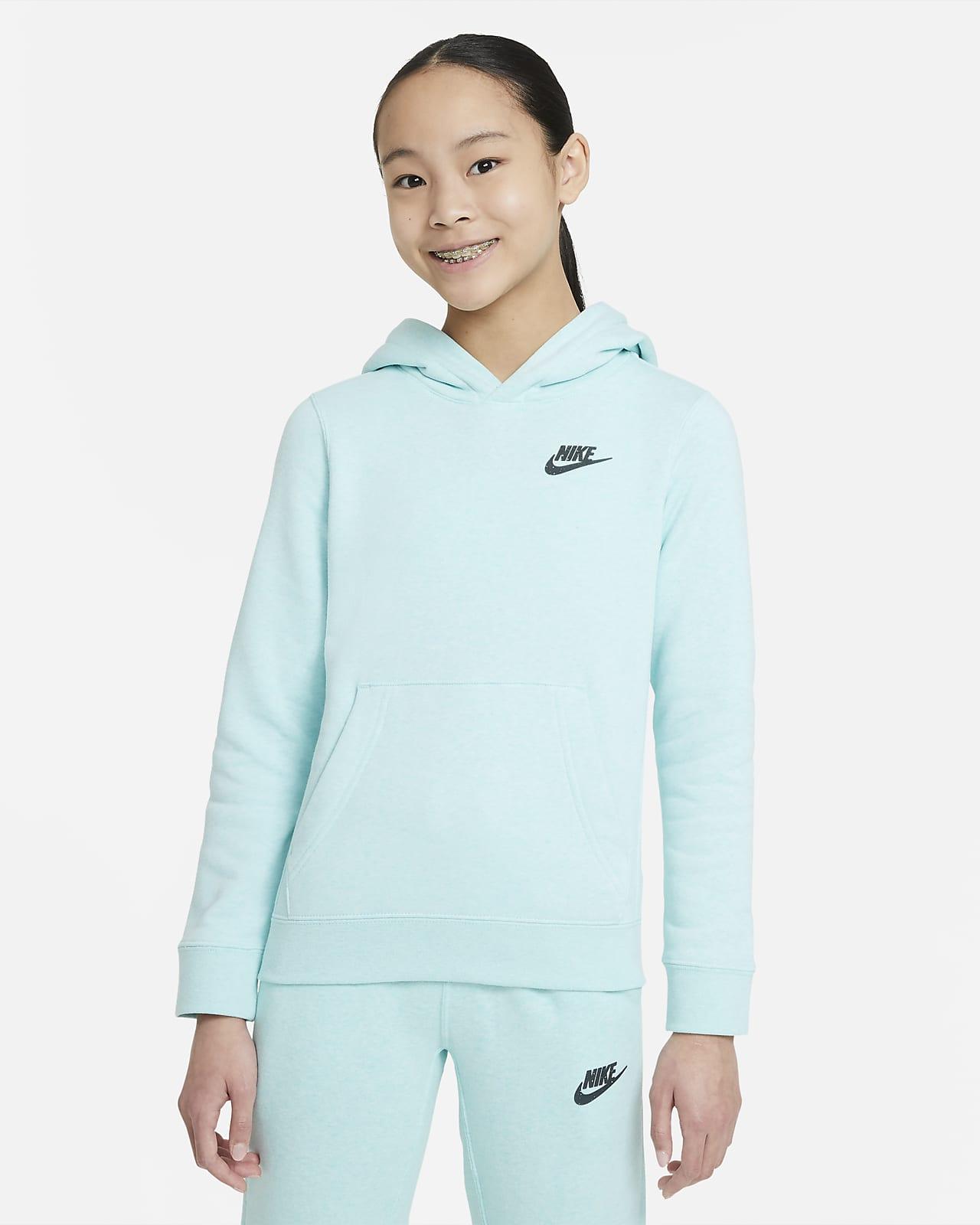 Sudadera con capucha sin cierre para niños talla grande Nike Sportswear Zero