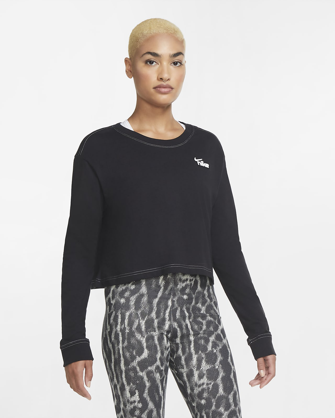 Nike Sportswear Women's Cropped Long-Sleeve T-Shirt
