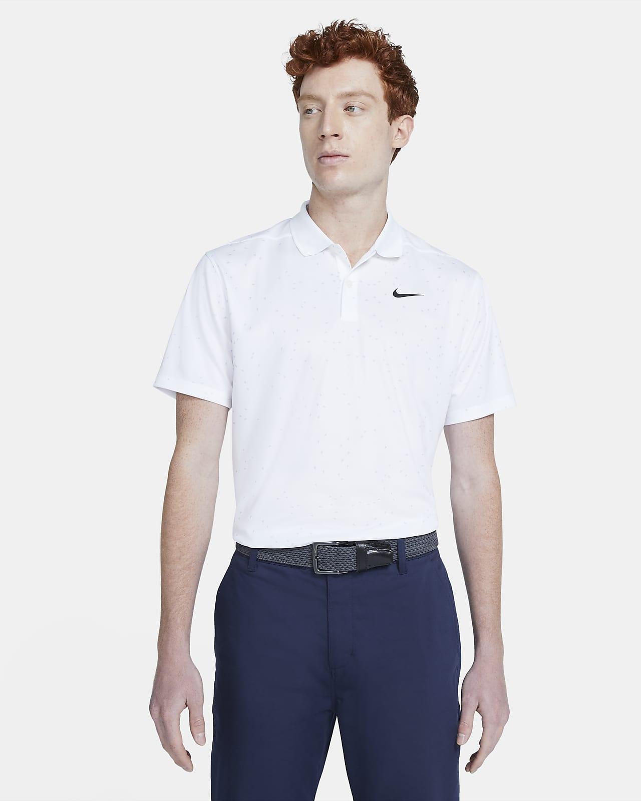 เสื้อโปโลกอล์ฟพิมพ์ลายผู้ชาย Nike Dri-FIT Victory