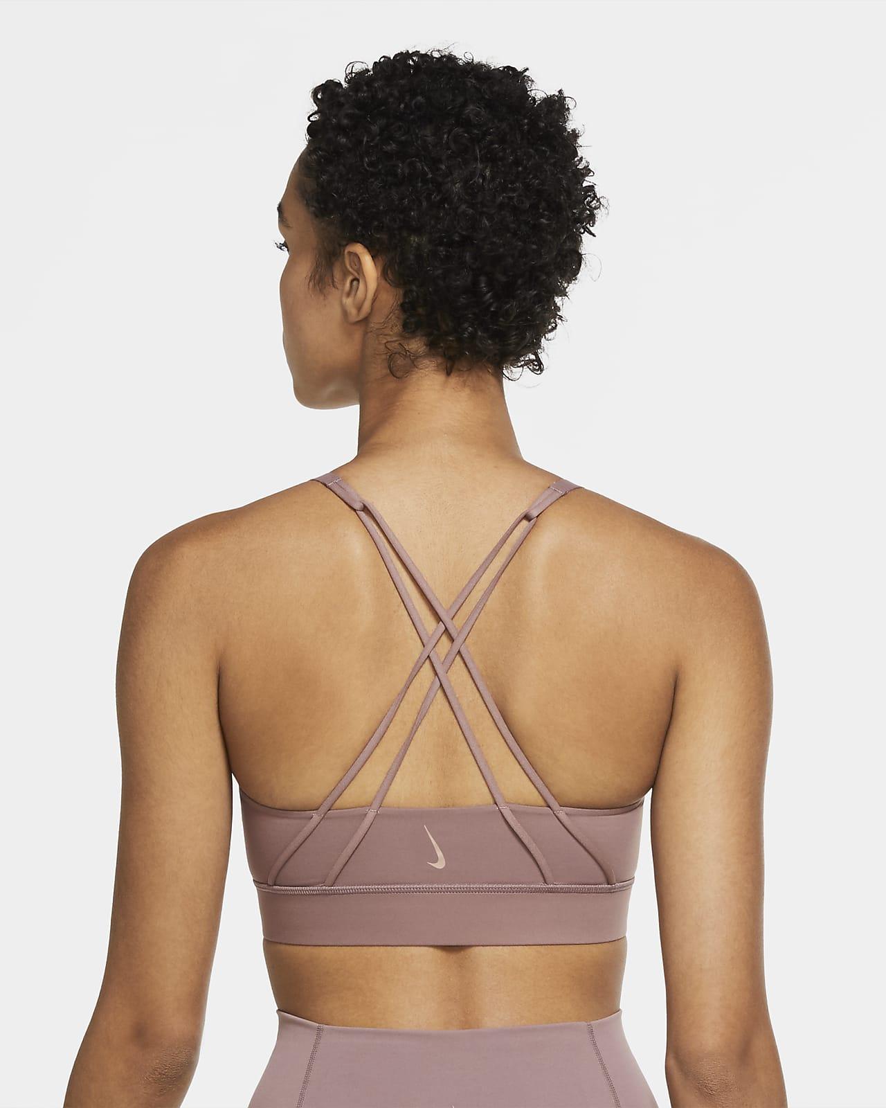 Nike Swoosh Luxe lengre sports-BH med innlegg og middels støtte til dame