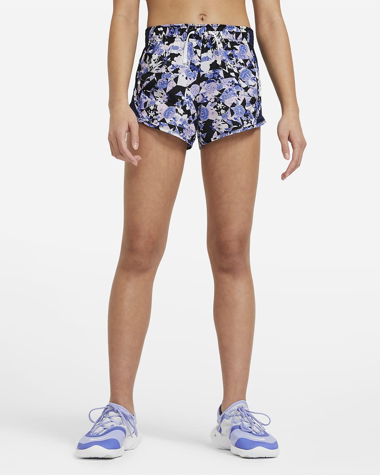 Nike Dri-FIT Tempo Older Kids' (Girls') Printed Running Shorts