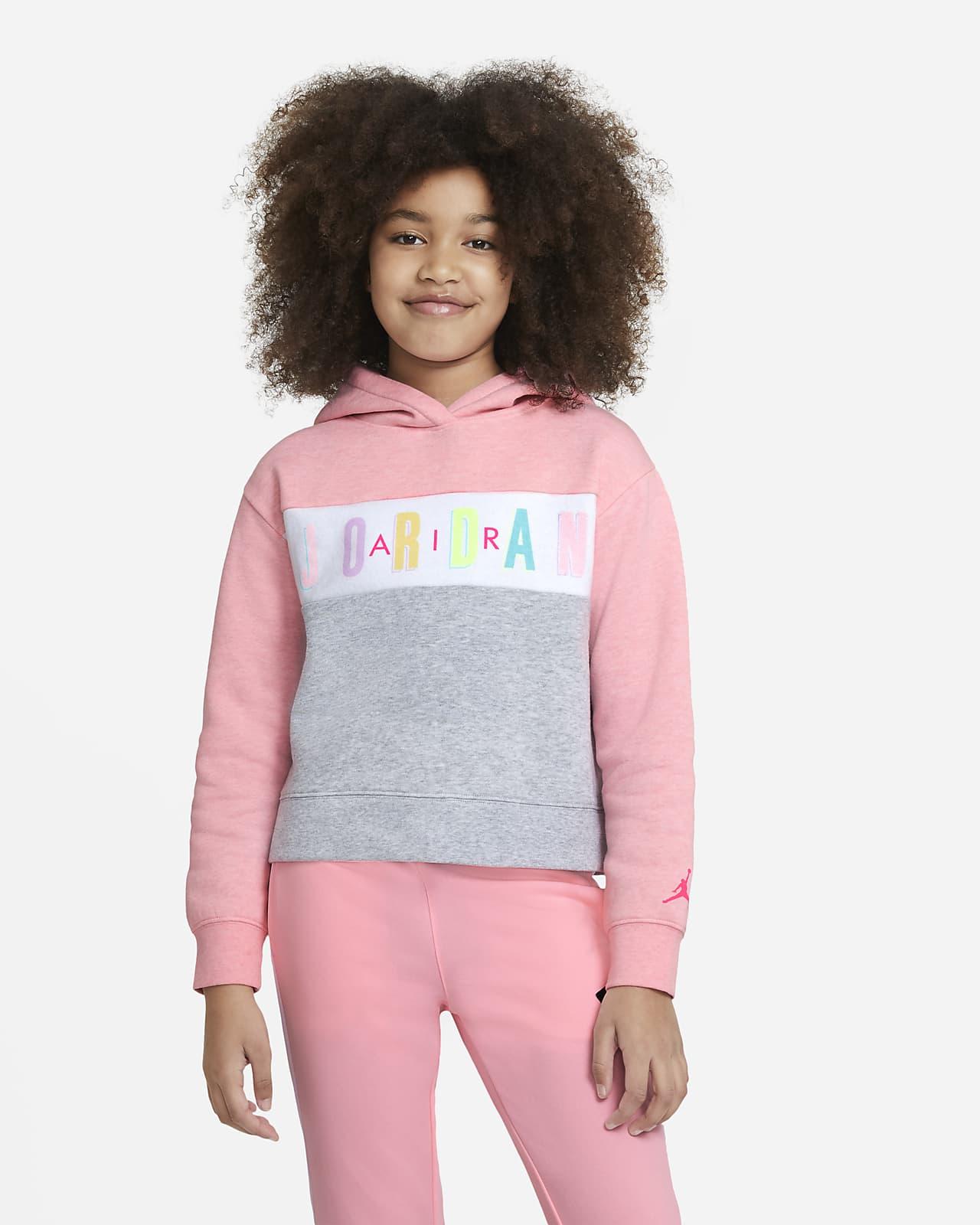 Jordan kapucnis, belebújós pulóver nagyobb gyerekeknek (lányoknak)