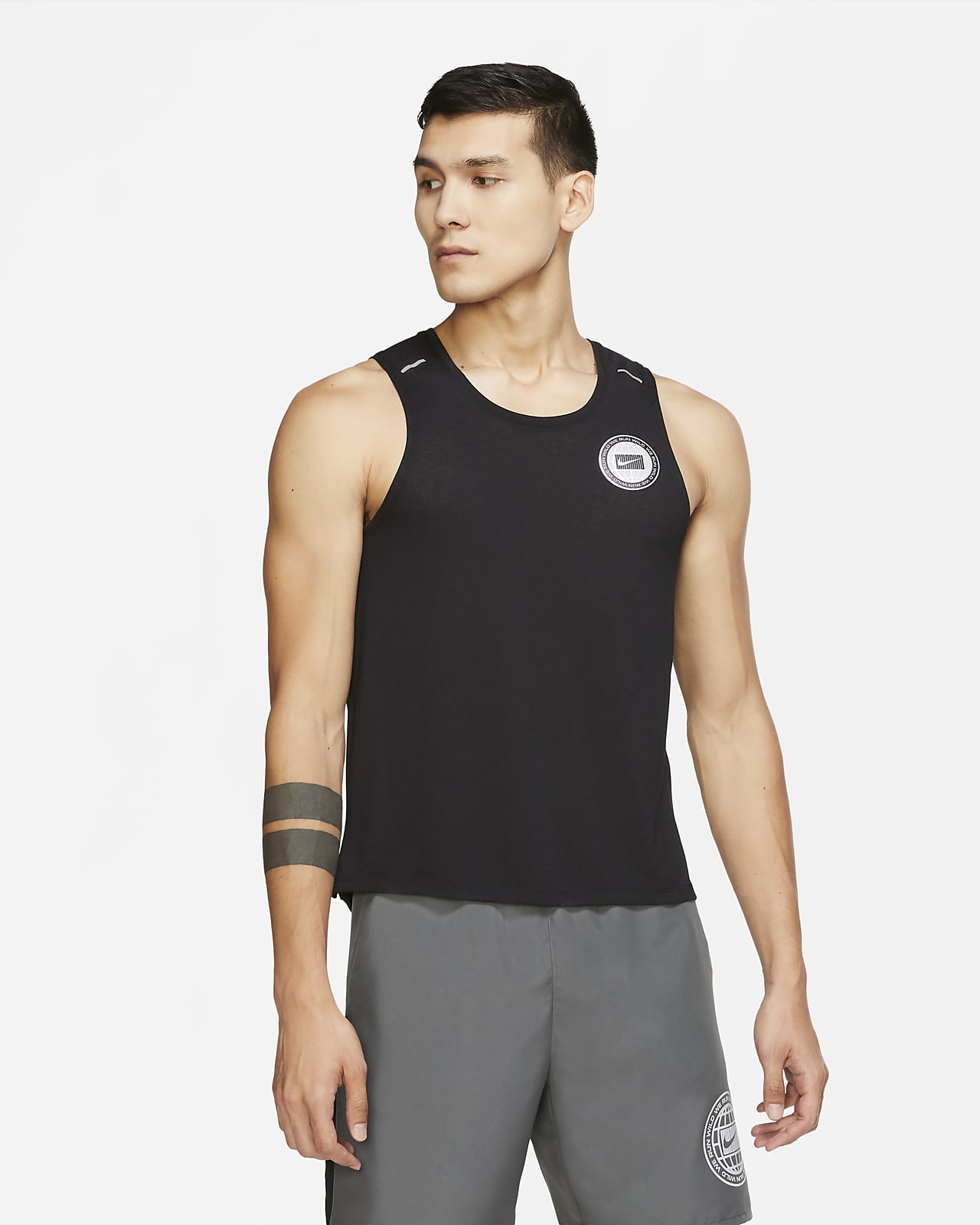 Nike Dri-FIT Miler Wild Run Men's Graphic Running Tank