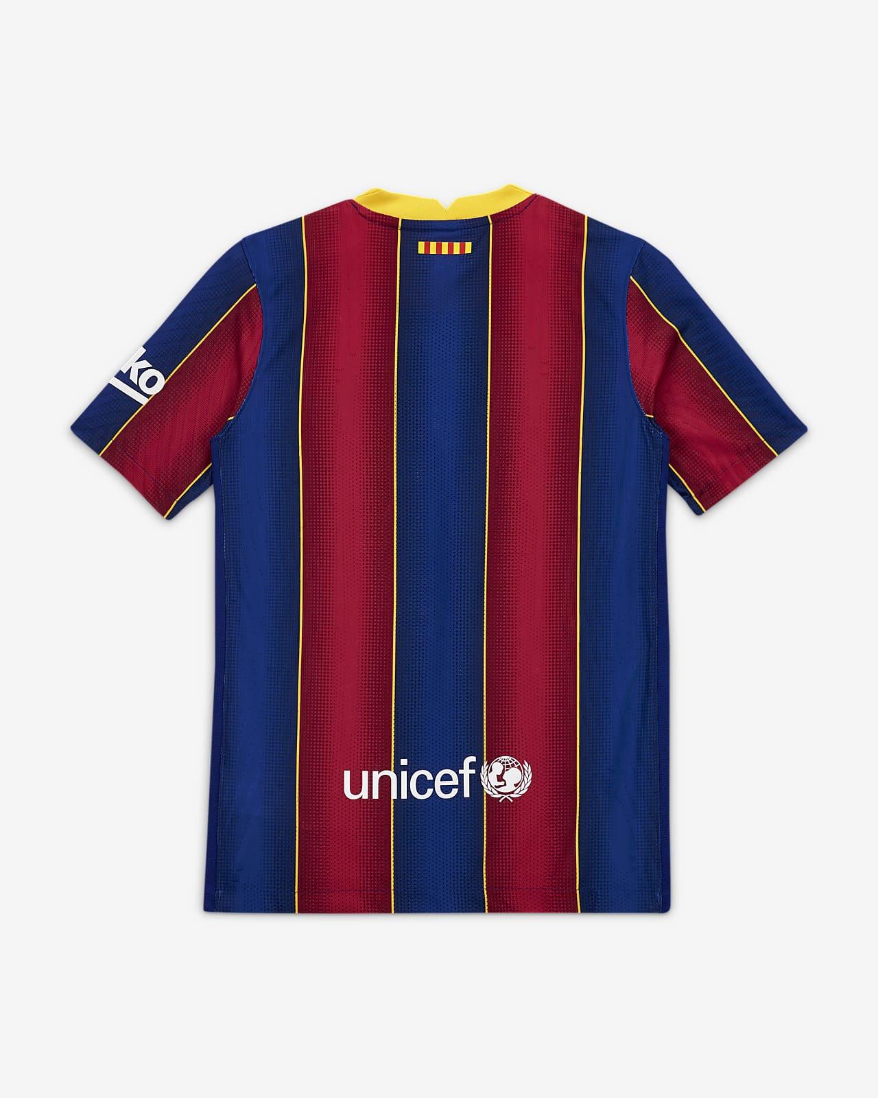 Piłkarska koszulka dla dużych dzieci FC Barcelona Vapor Match 202021 (wersja domowa)