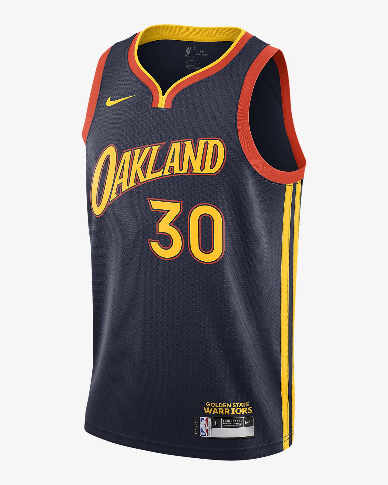 Dres Nike NBA Swingman Stephen Curry Warriors City Edition pro větší děti