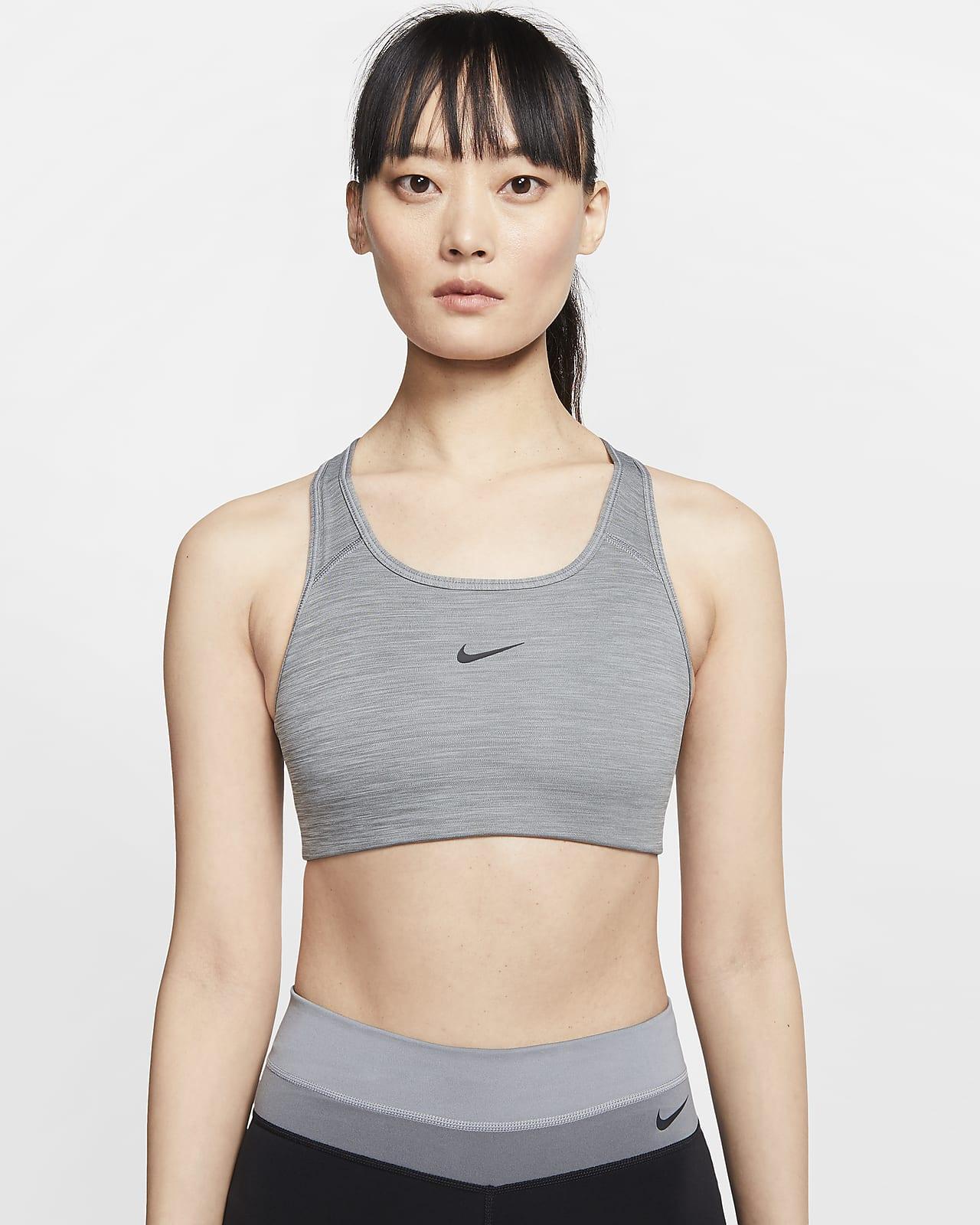 Sujetador deportivo de sujeción media con almohadilla de una sola pieza para mujer Nike Dri-FIT Swoosh