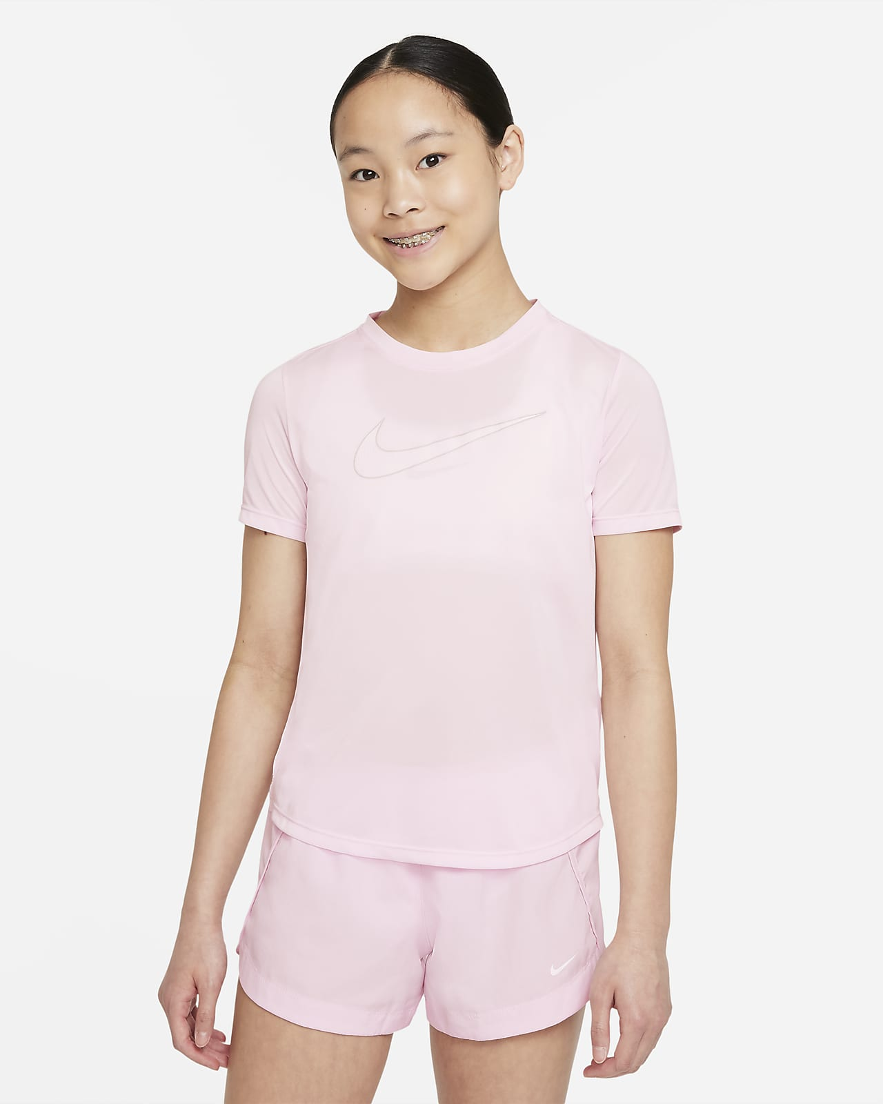 Nike Dri-FIT One Big Kids' (Girls') Short-Sleeve Training Top