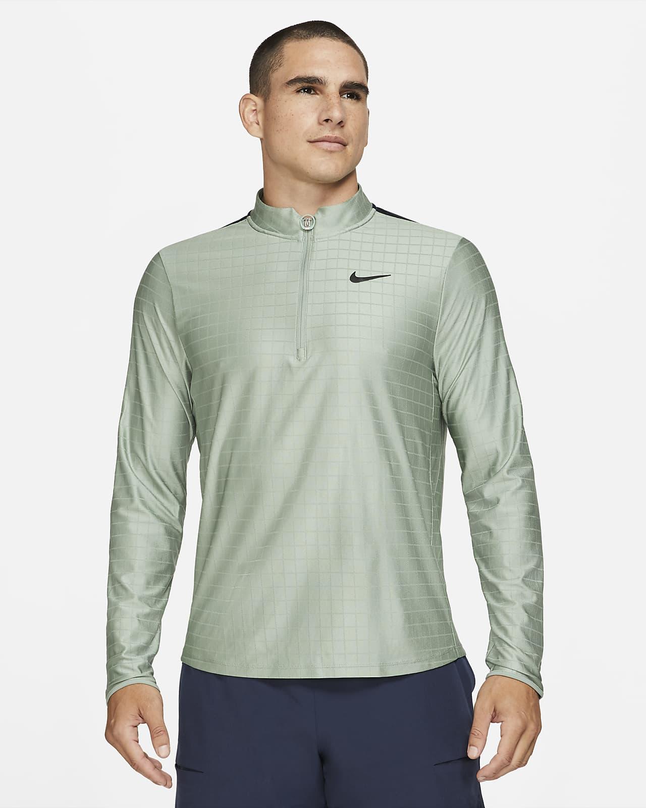 Prenda para la parte superior de tenis con medio cierre para hombre NikeCourt Dri-FIT Advantage