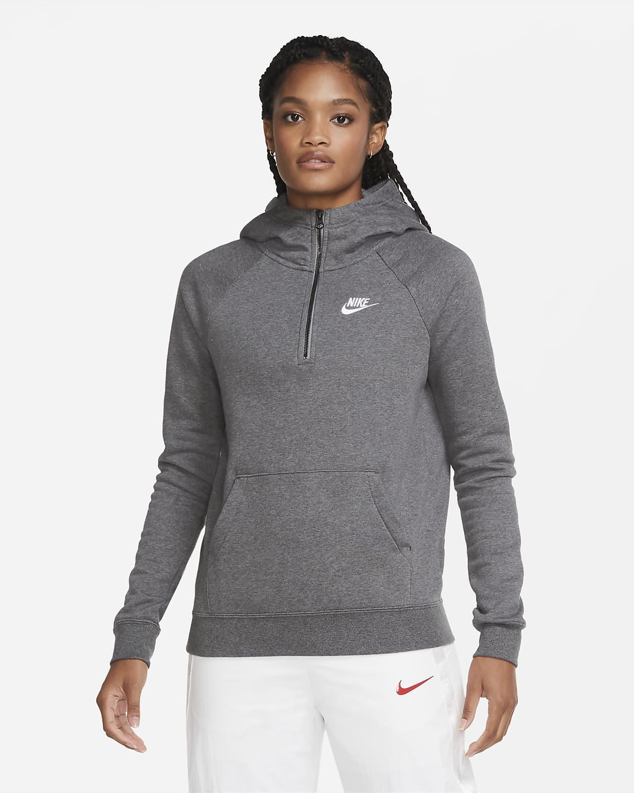 Sudadera con capucha de cierre 1/4 para mujer Nike Sportswear Essential