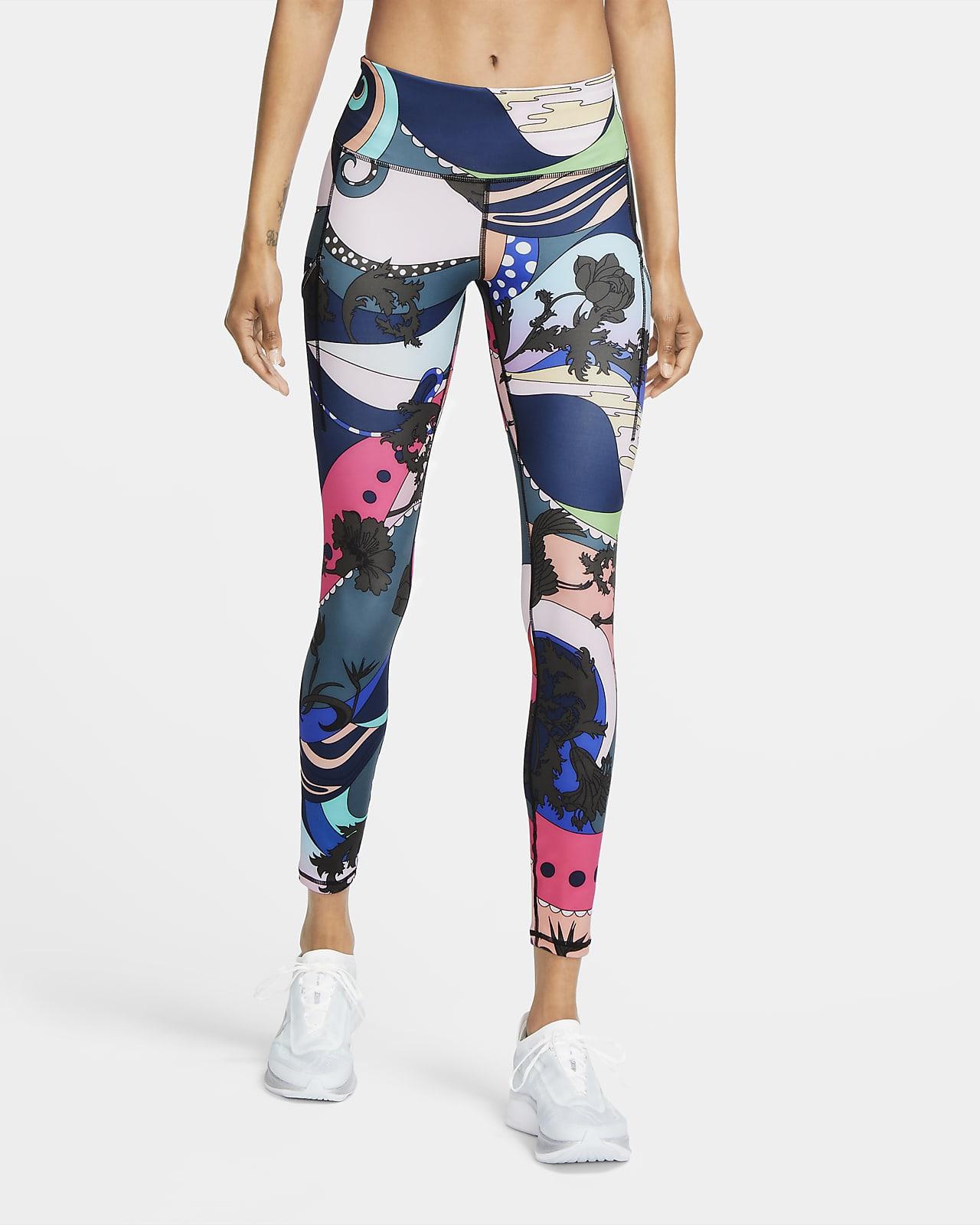 Tights da running stampati Nike Epic Luxe Icon Clash - Donna