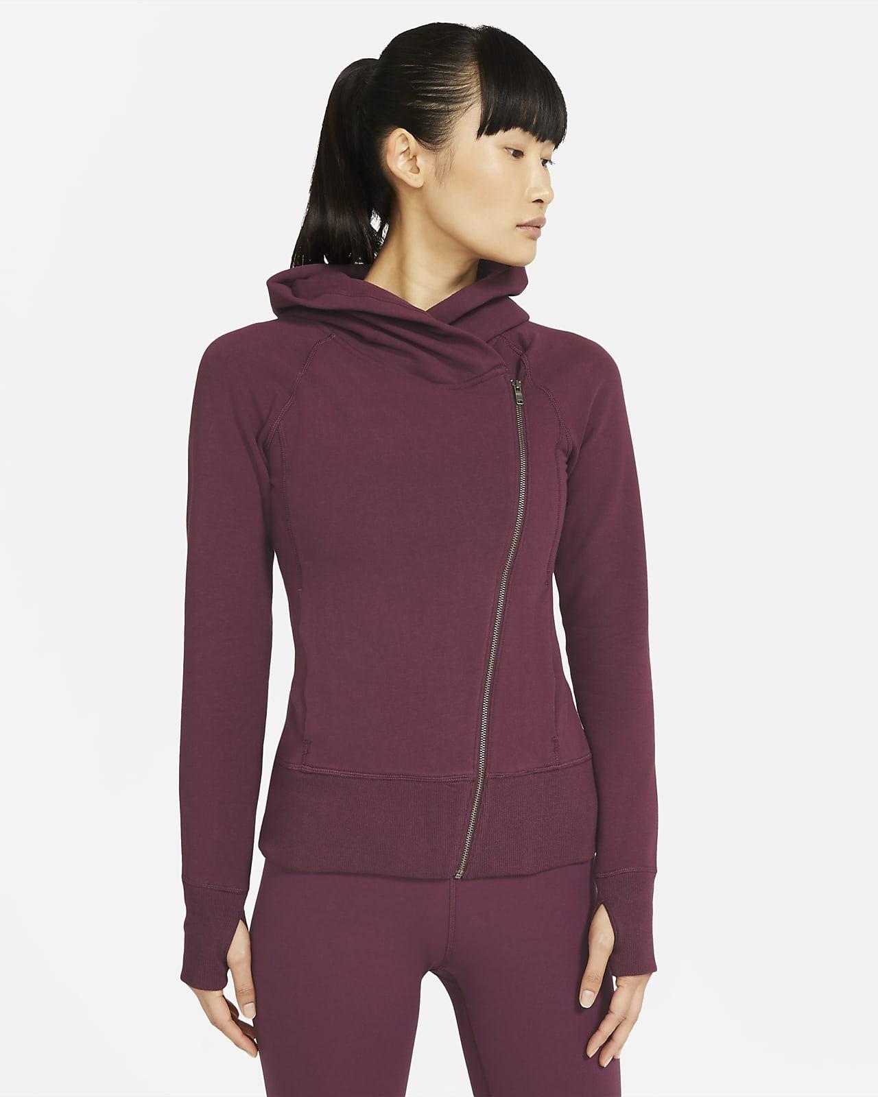 Nike Yoga 女款全長式拉鍊連帽上衣