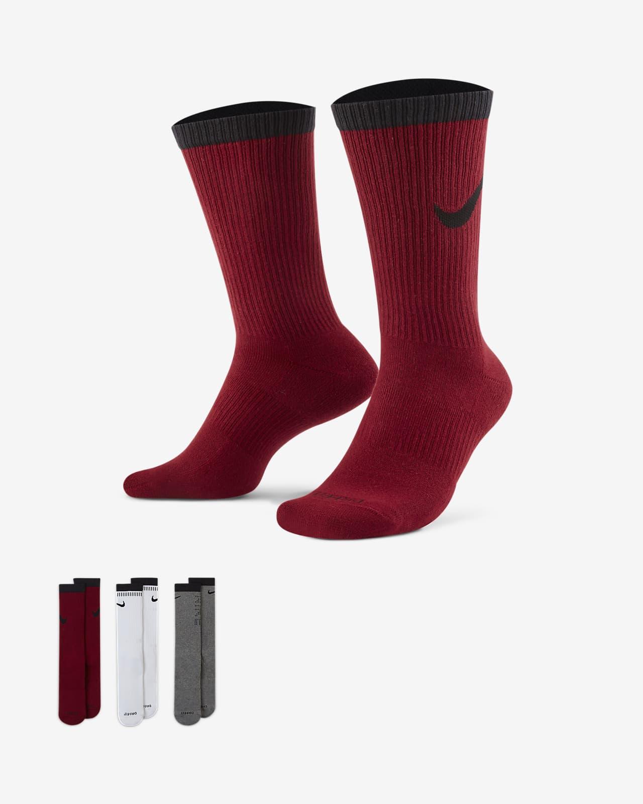 Calcetines largos de entrenamiento Nike Everyday Plus Cushioned (3 pares)