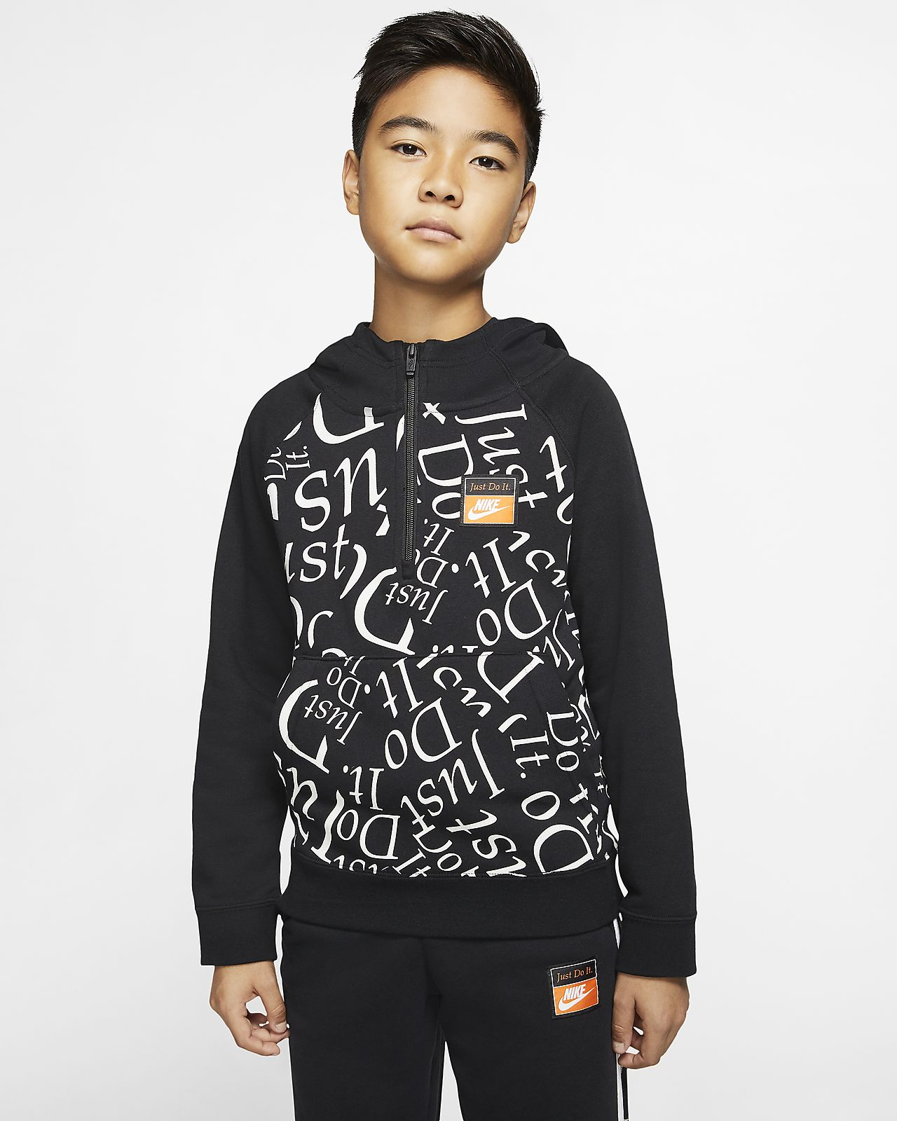 Nike Sportswear 大童(男孩)半长拉链开襟连帽衫