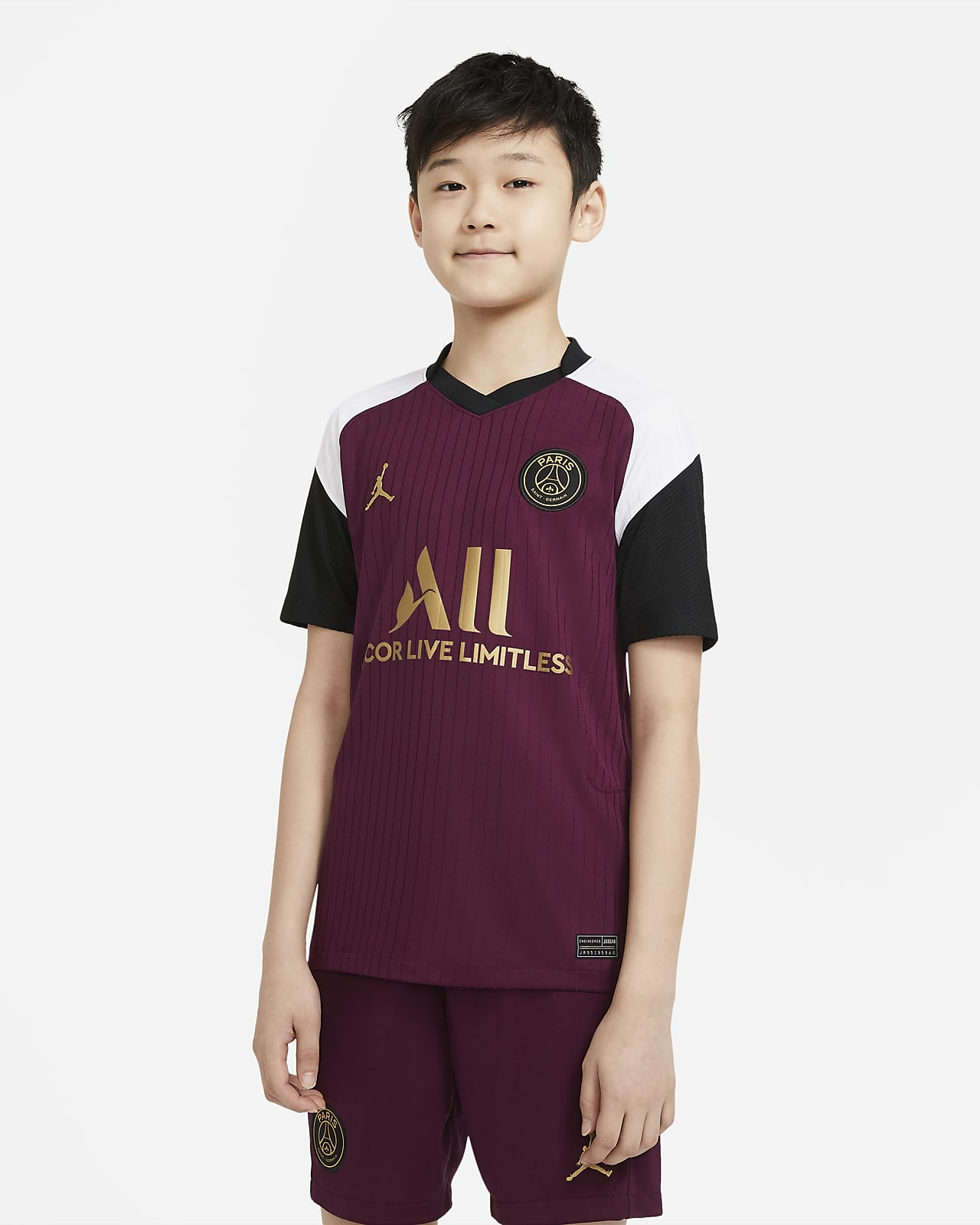 Camiseta de fútbol para niños talla grande Paris Saint-Germain alternativa Stadium 2020/21
