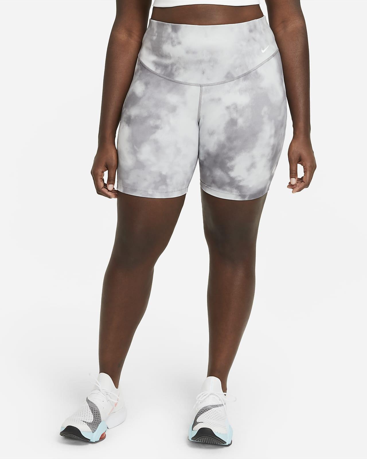 Shorts estampados de 18 cm para mujer talla grande Nike One Icon Clash