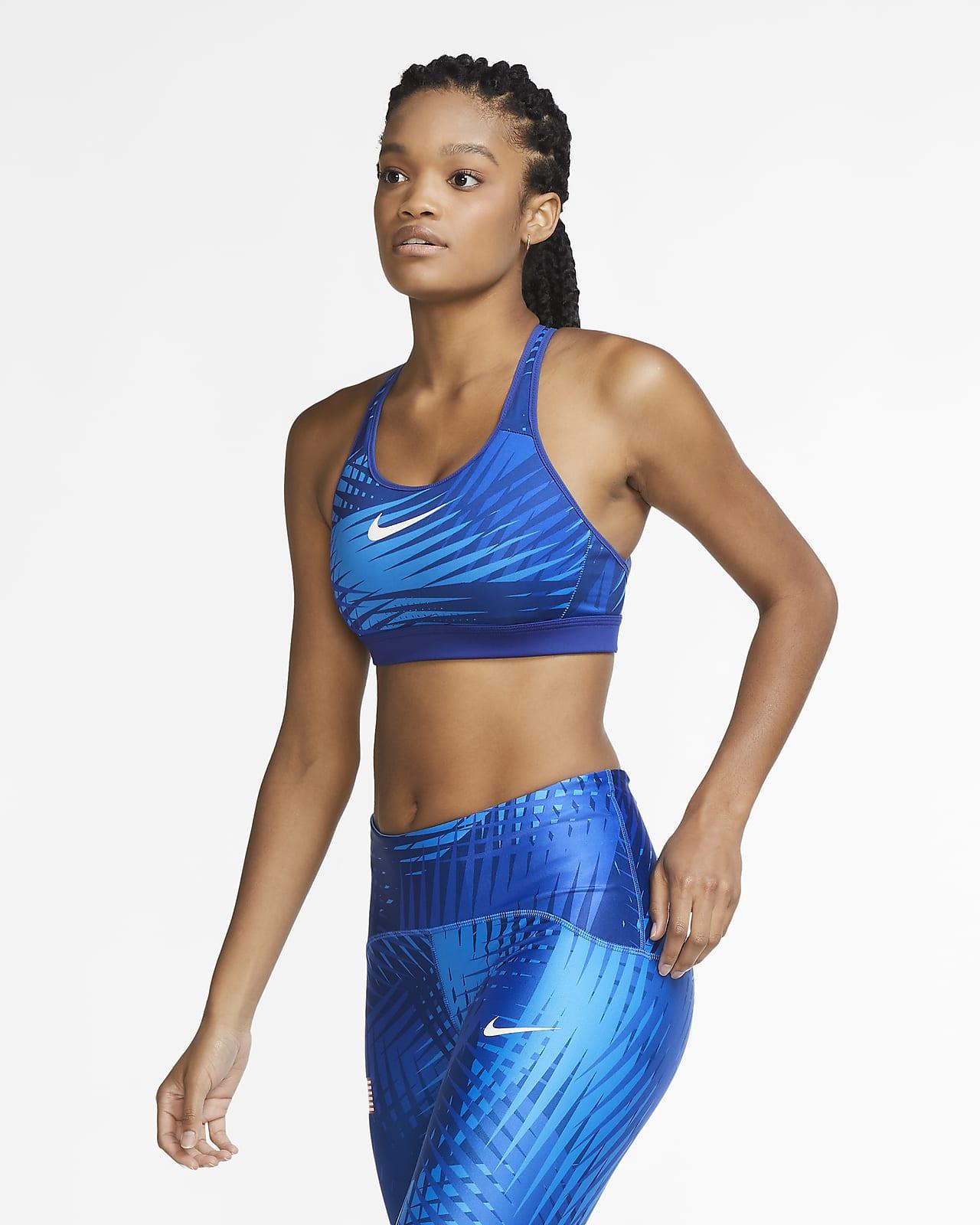 Bra deportivo con tirantes sin almohadilla de alta sujeción para mujer Nike Team USA Impact