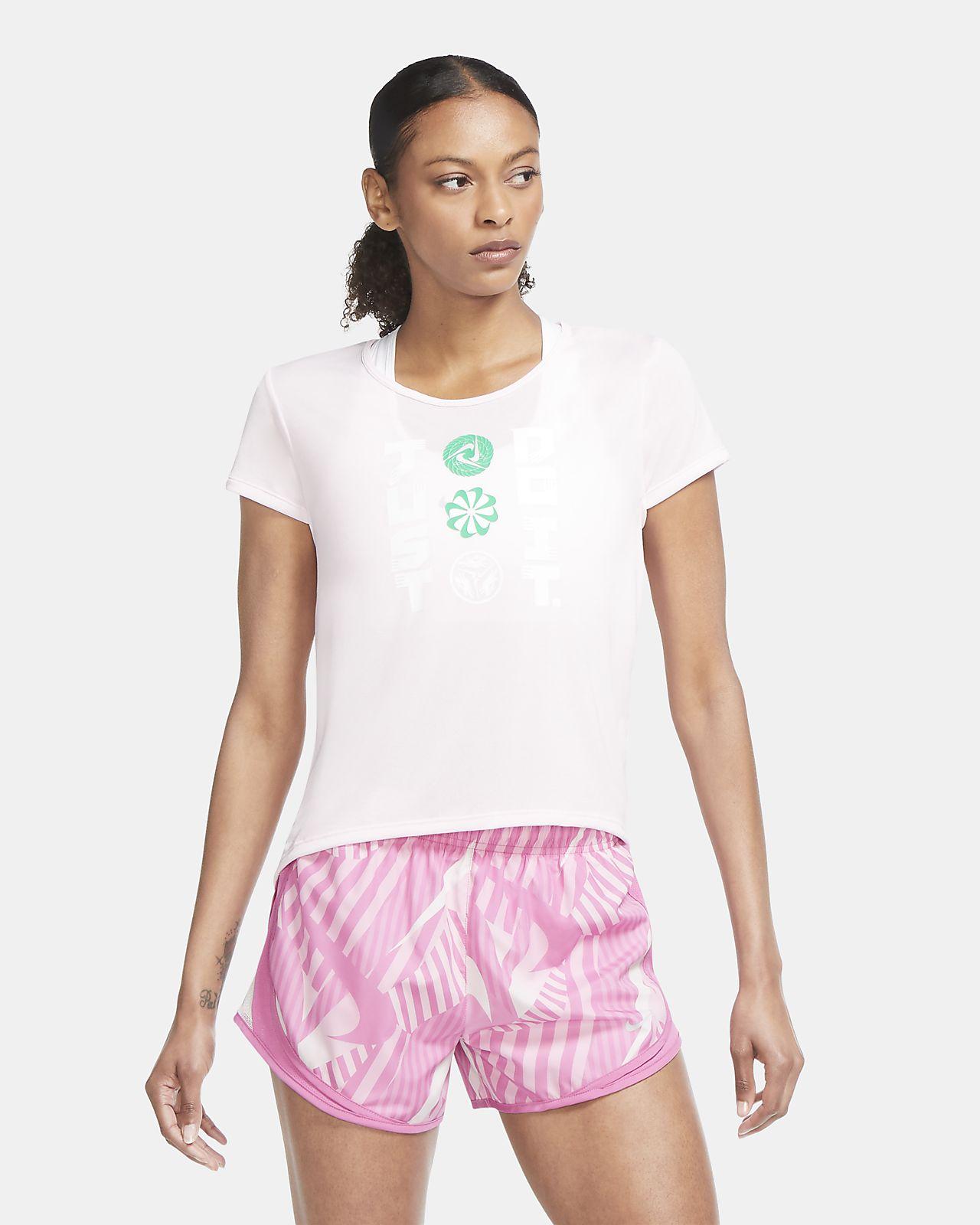 เสื้อวิ่งแขนสั้นผู้หญิง Nike Icon Clash