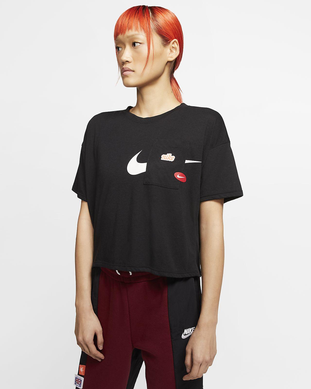 Damska koszulka treningowa z krótkim rękawem Nike Icon Clash