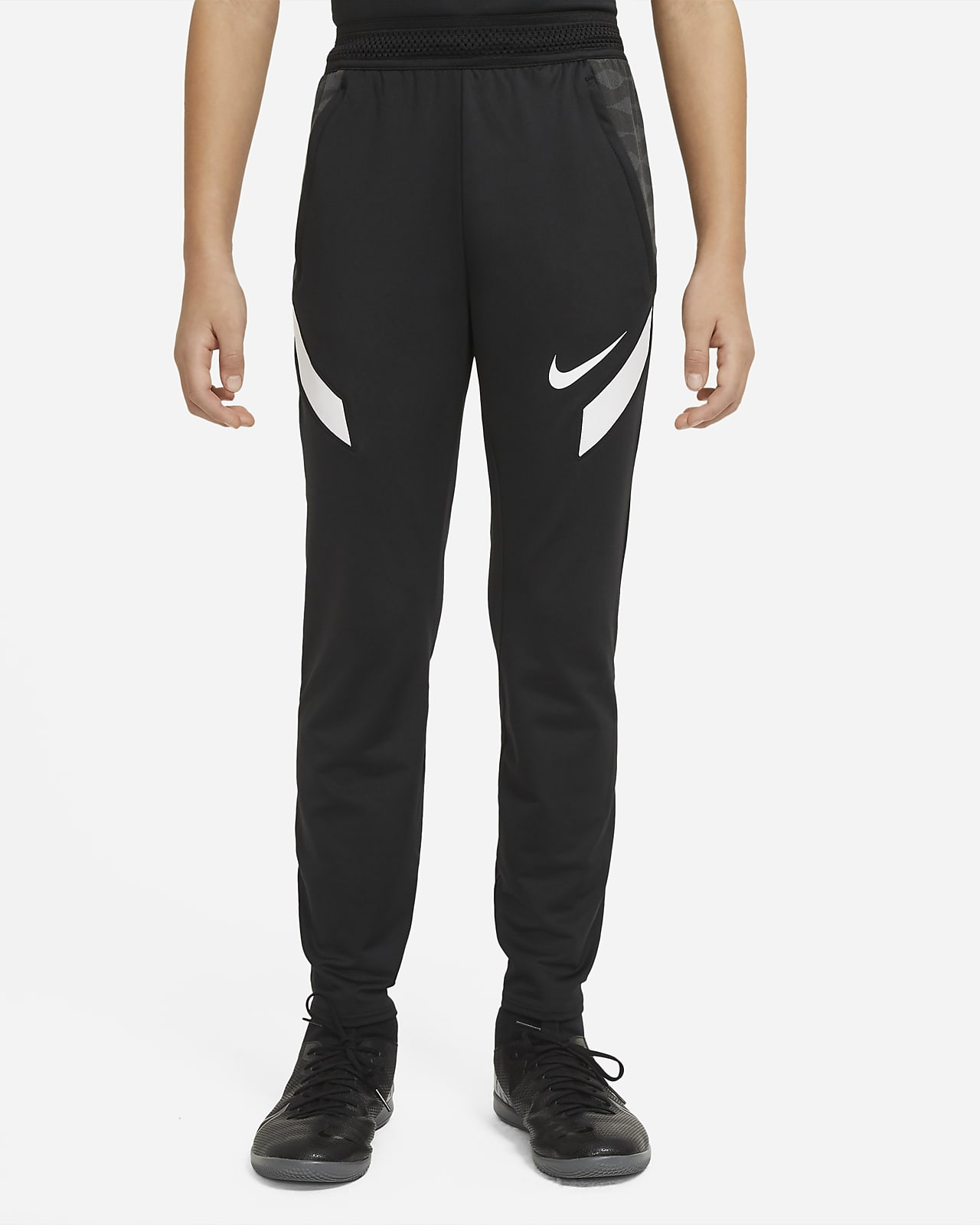 Spodnie piłkarskie z dzianiny dla dużych dzieci Nike Dri-FIT Strike