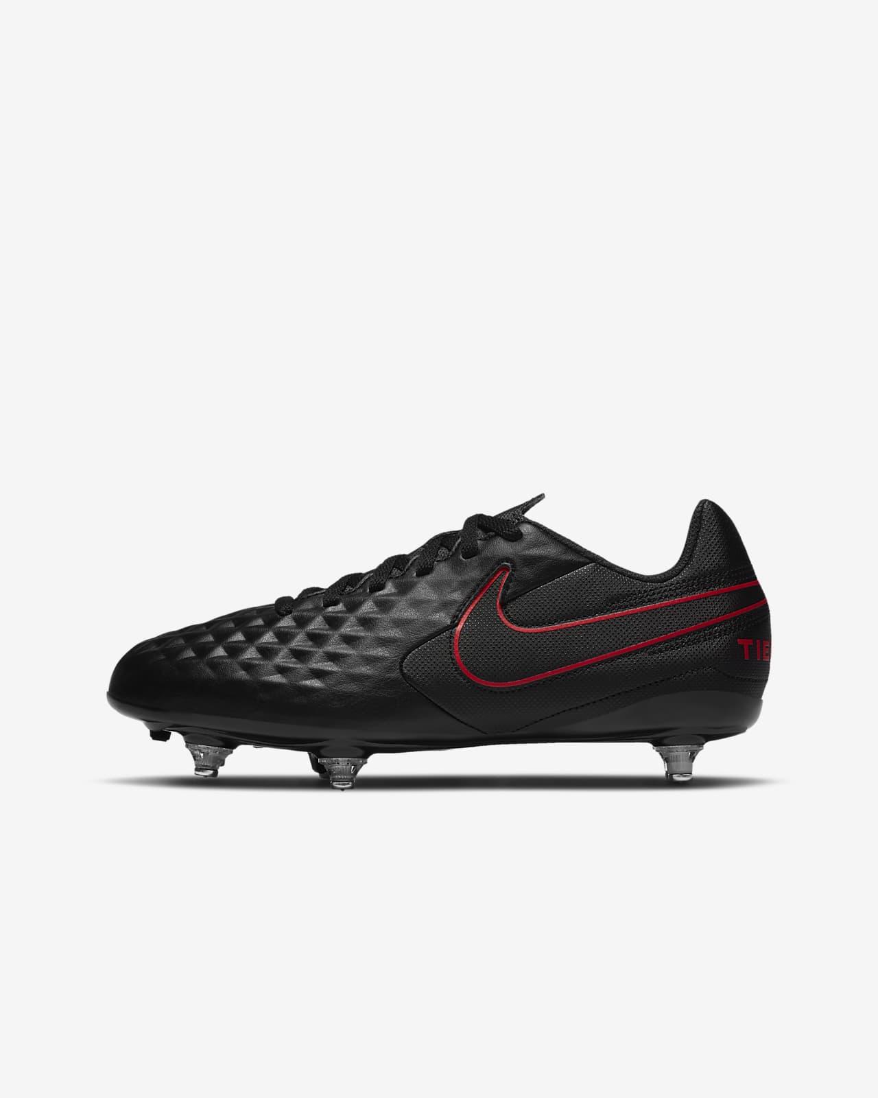 Calzado de fútbol para terreno blando para niños talla pequeña/grande Nike Jr. Tiempo Legend 8 Club SG