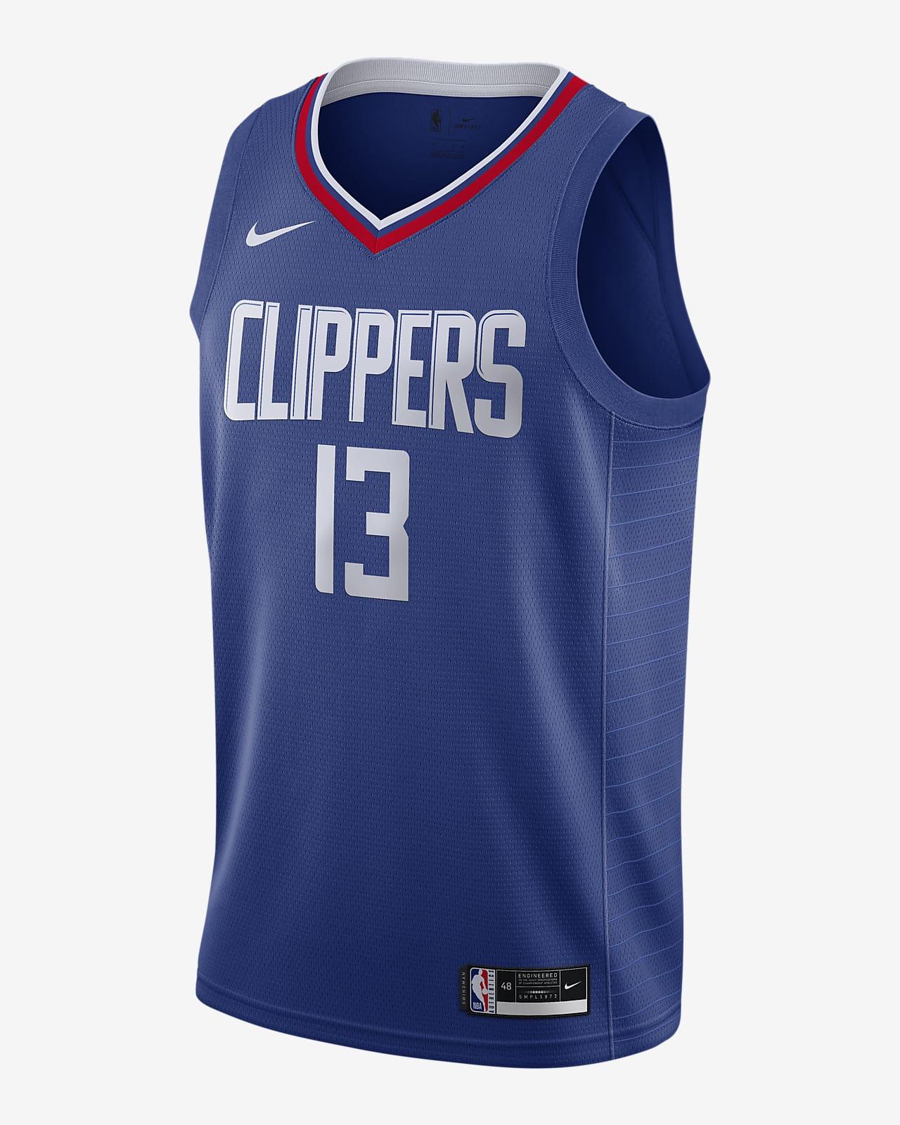 2020 赛季洛杉矶快船队 (Paul George) Icon Edition Nike NBA Swingman Jersey 男子球衣