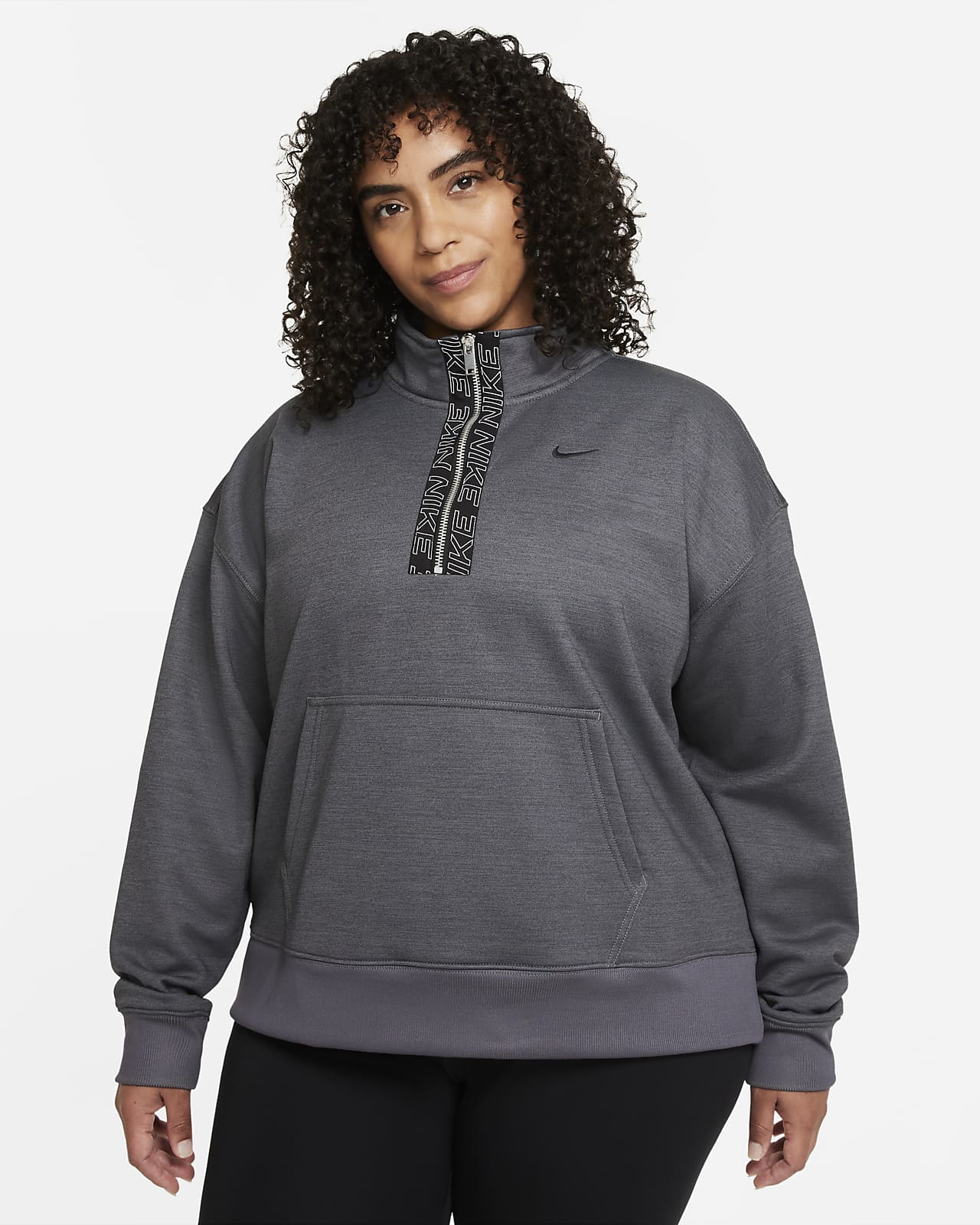 Nike Therma-FIT Women's 1/2-Zip Training Top (Plus Size)