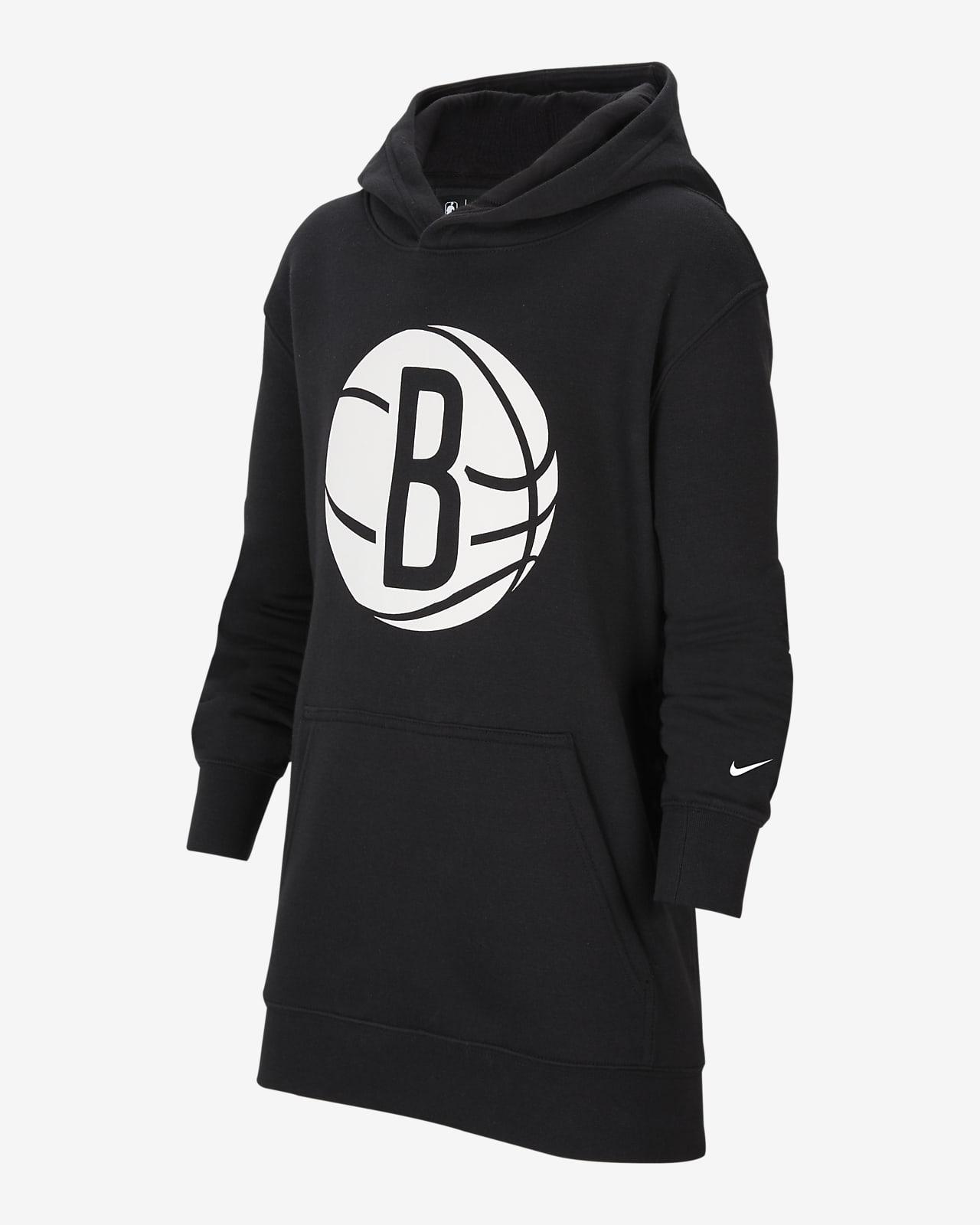 Bluza z kapturem dla dużych dzieci Nike NBA Brooklyn Nets Essential