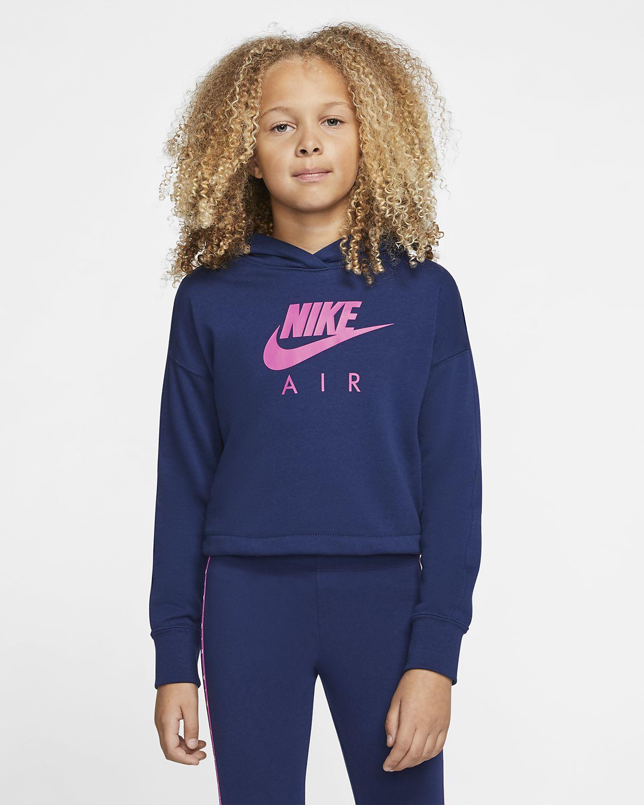 Nike Air Older Kids' (Girls') Cropped Hoodie