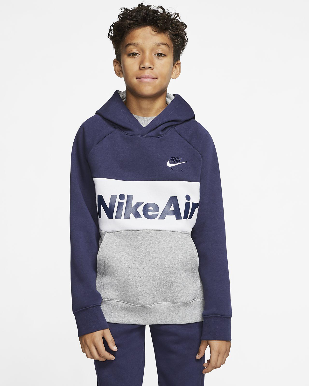 Přetahovací mikina Nike Air s kapucí pro větší děti (chlapce)