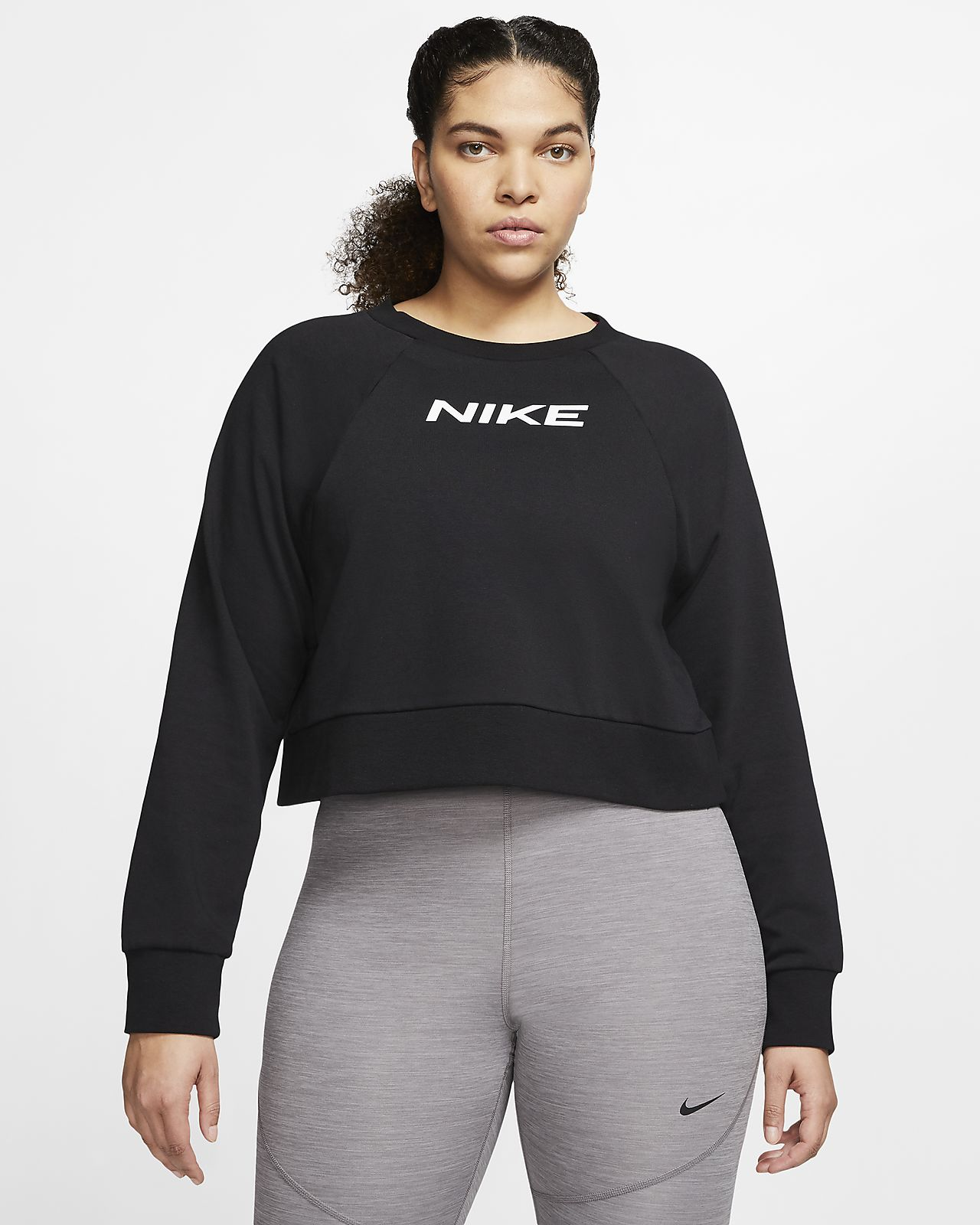 Nike Trainings-Rundhalsausschnitt für Damen (große Größe)