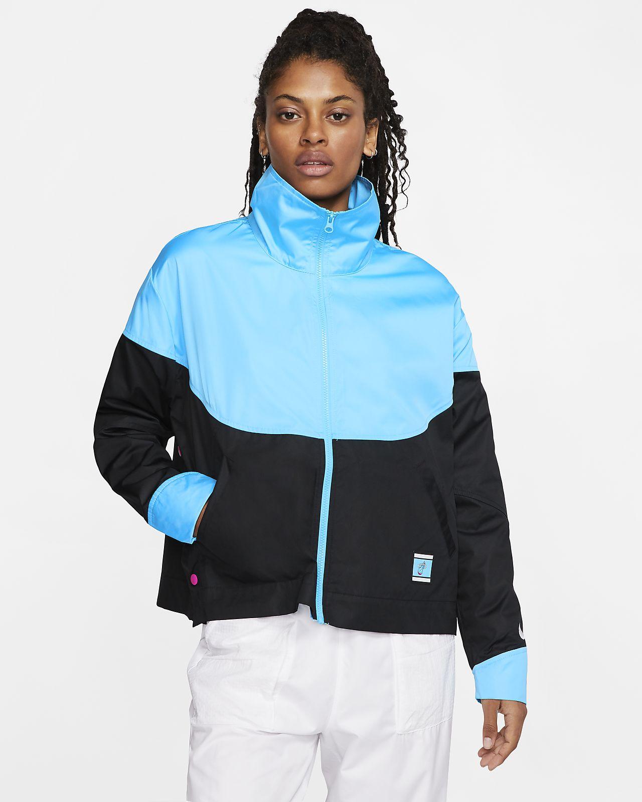 Veste à boutons-pression Nike NBA Heat Courtside City Edition pour Femme