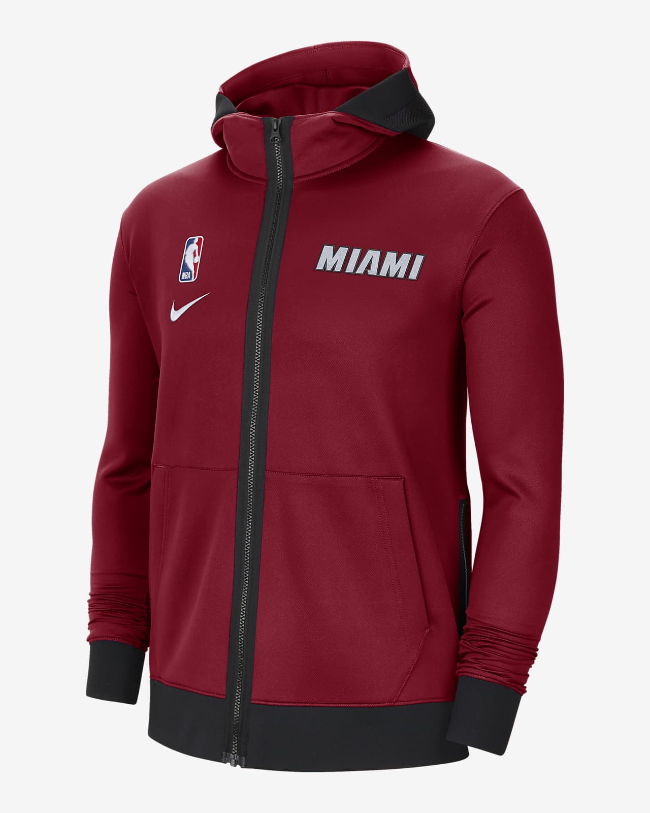 Pánská mikina Nike NBA Therma Flex Miami Heat Showtime skapucí