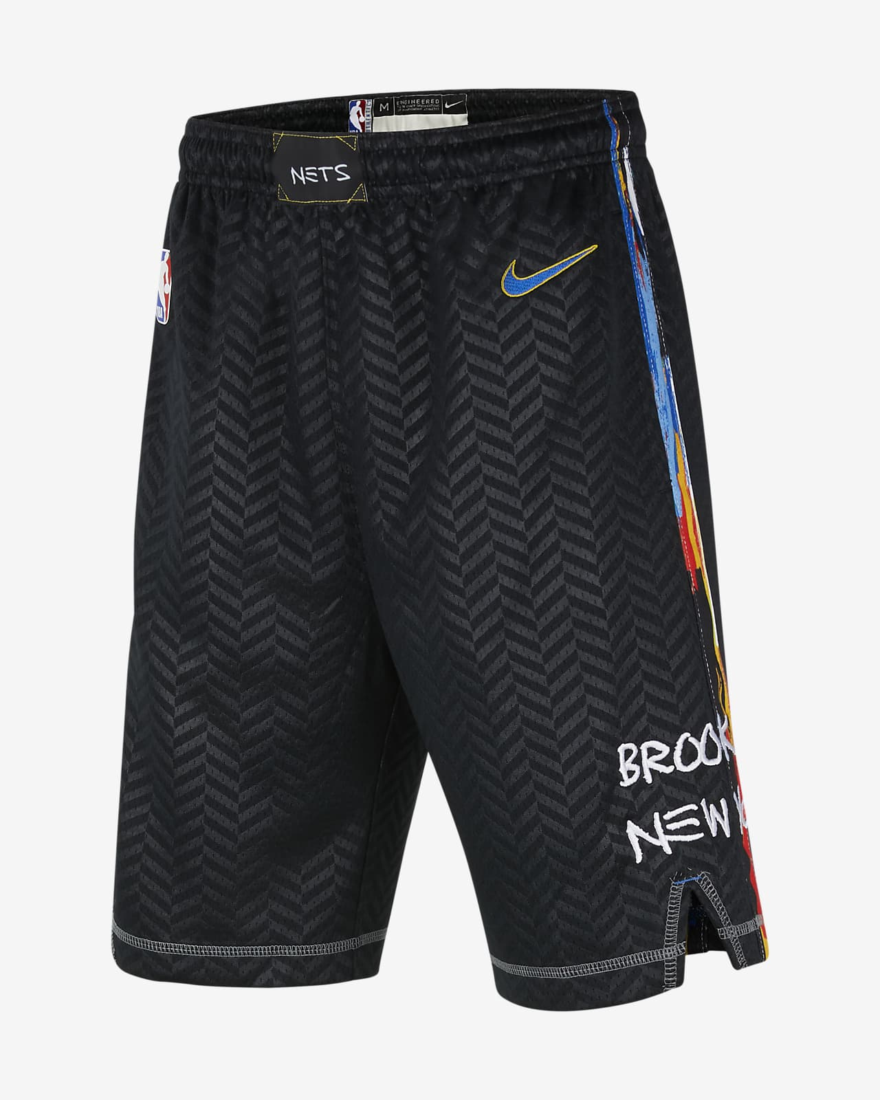 Brooklyn Nets City Edition Older Kids' Nike NBA Swingman Shorts